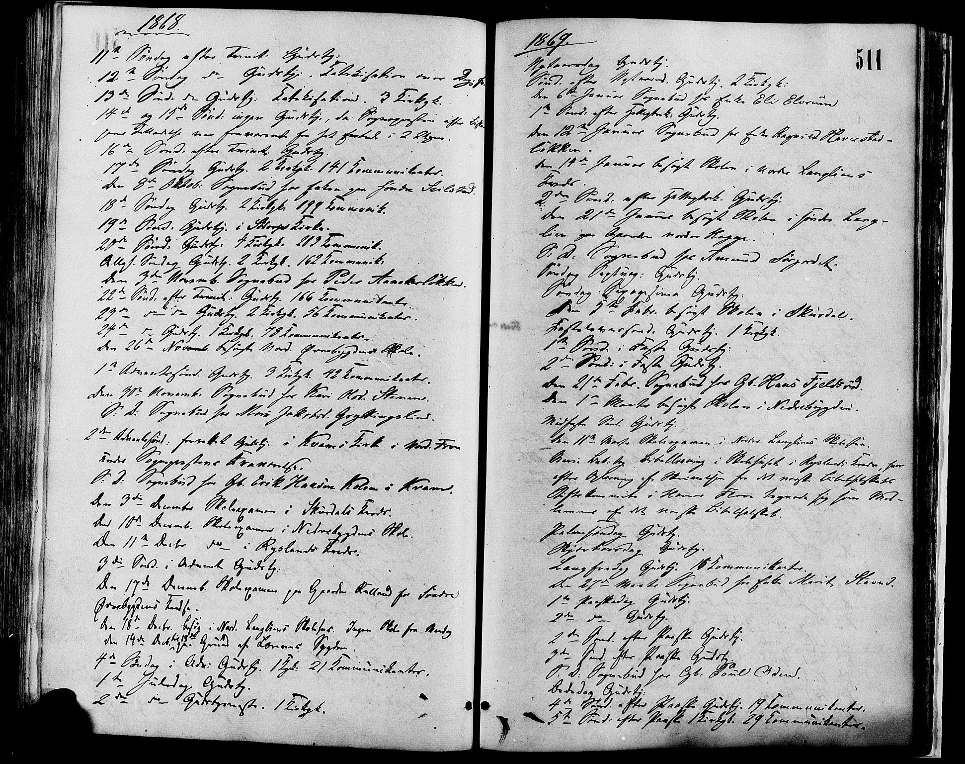 SAH, Sør-Fron prestekontor, H/Ha/Haa/L0002: Ministerialbok nr. 2, 1864-1880, s. 511