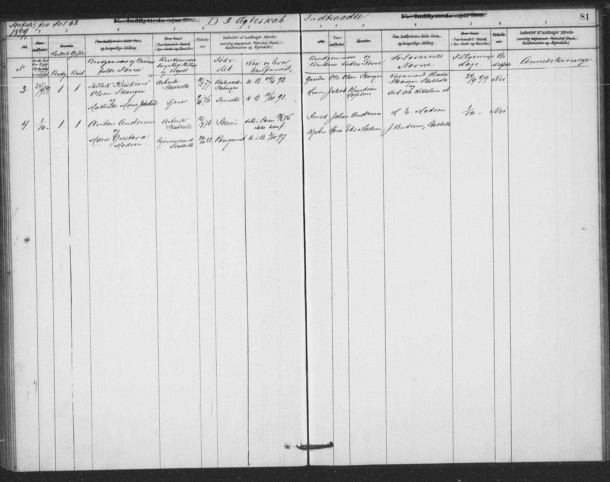 SAKO, Bamble kirkebøker, F/Fb/L0001: Ministerialbok nr. II 1, 1878-1899, s. 81
