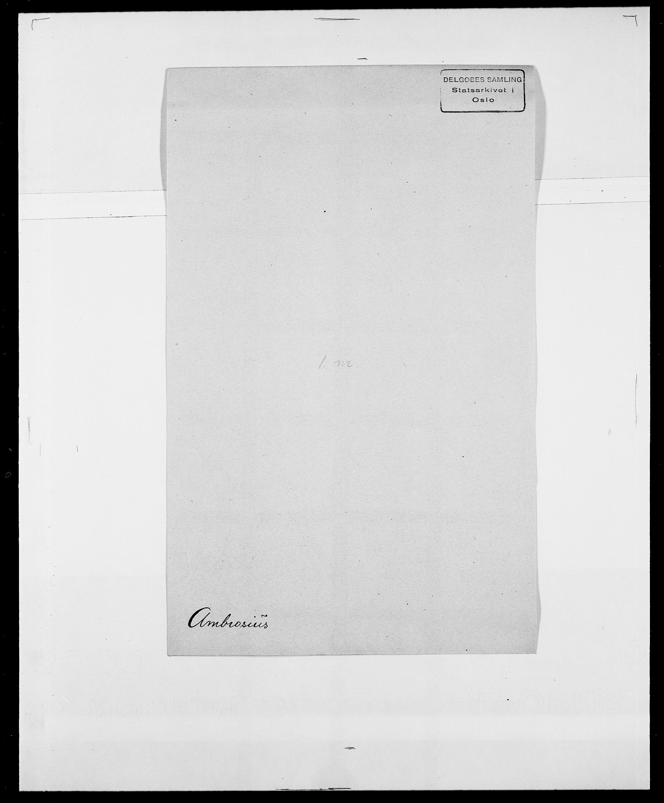 SAO, Delgobe, Charles Antoine - samling, D/Da/L0001: Aabye - Angerman, s. 527