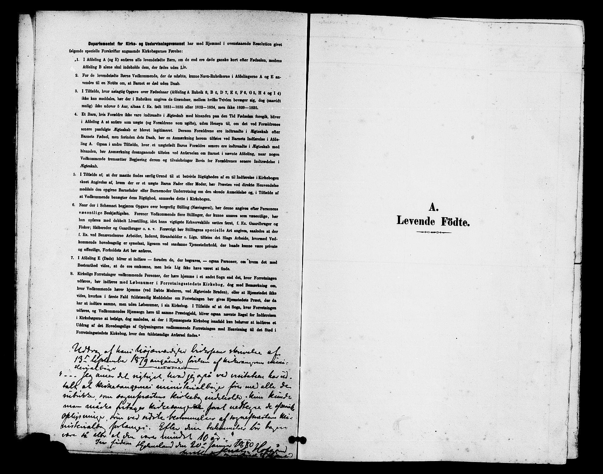 SAST, Hjelmeland sokneprestkontor, V/L0007: Klokkerbok nr. B 7, 1880-1909