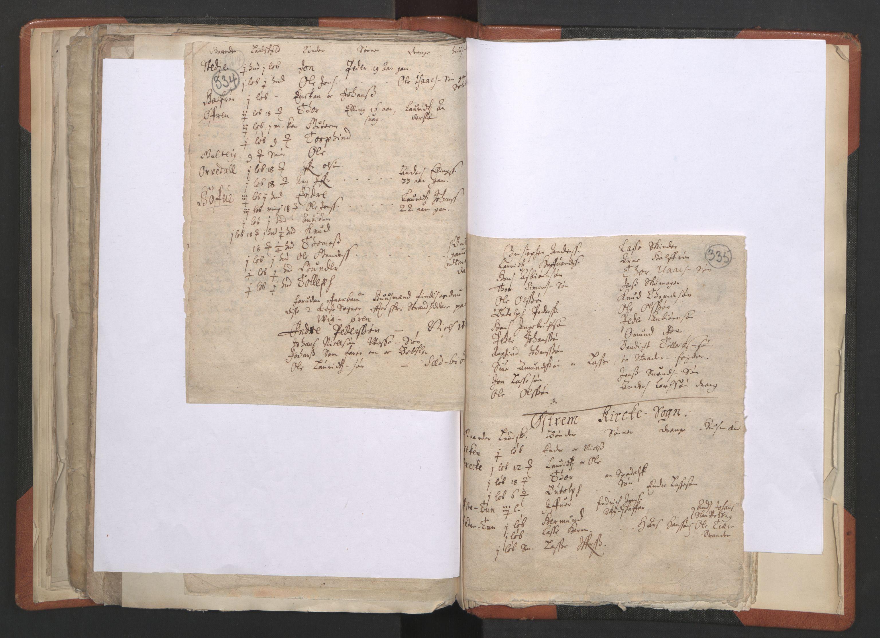 RA, Sogneprestenes manntall 1664-1666, nr. 23: Sogn prosti, 1664-1666, s. 334-335