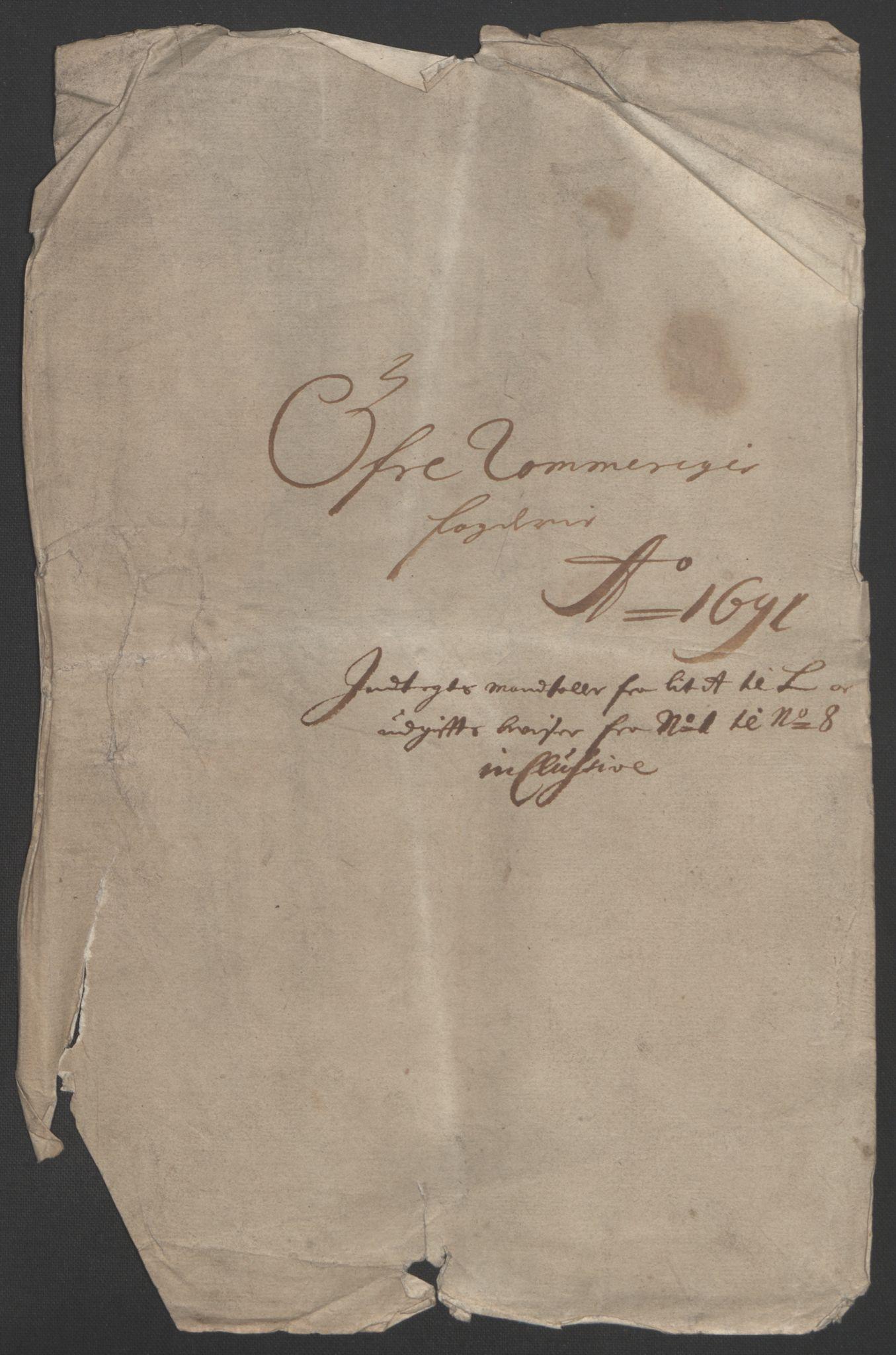 RA, Rentekammeret inntil 1814, Reviderte regnskaper, Fogderegnskap, R12/L0703: Fogderegnskap Øvre Romerike, 1691, s. 256