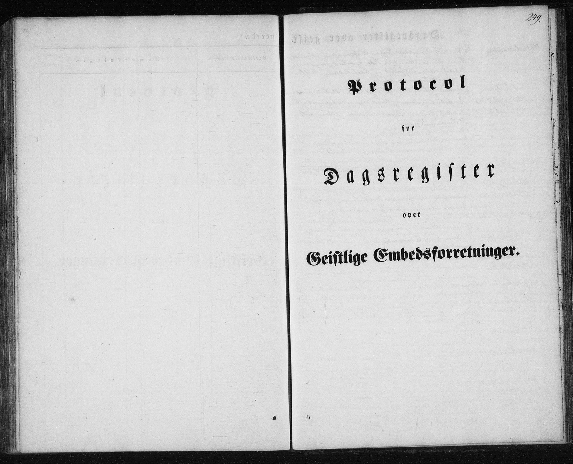 SAT, Ministerialprotokoller, klokkerbøker og fødselsregistre - Nordland, 827/L0391: Ministerialbok nr. 827A03, 1842-1852, s. 249