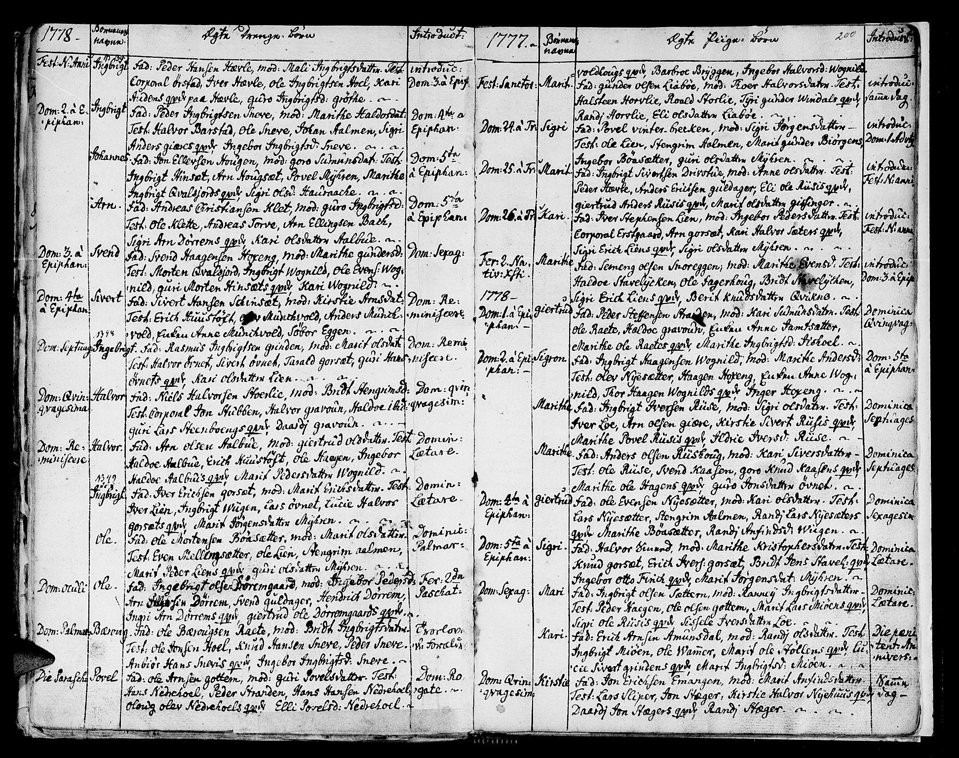 SAT, Ministerialprotokoller, klokkerbøker og fødselsregistre - Sør-Trøndelag, 678/L0891: Ministerialbok nr. 678A01, 1739-1780, s. 200