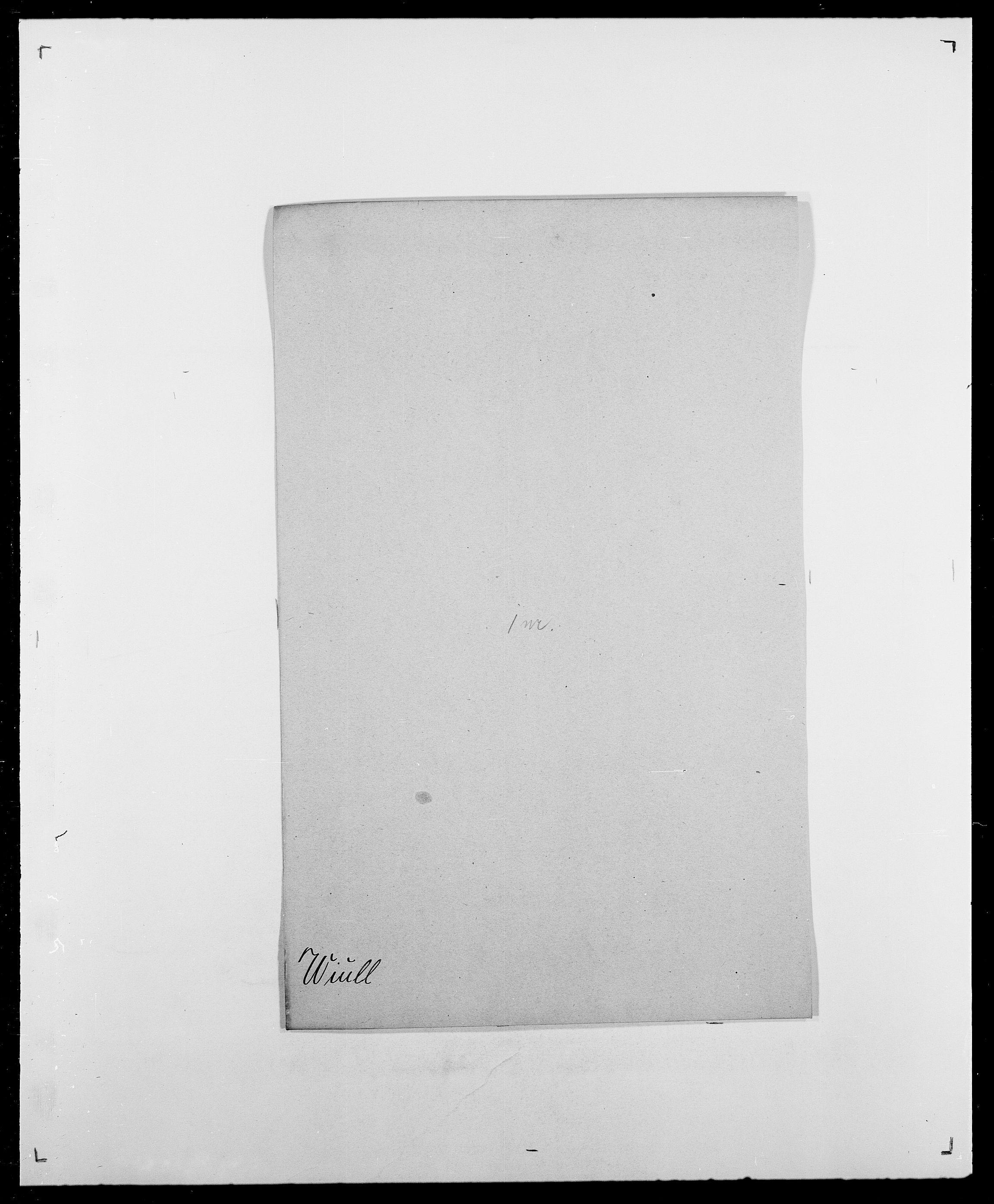 SAO, Delgobe, Charles Antoine - samling, D/Da/L0042: Vilain - Wulf, Wulff, se også Wolf, s. 516