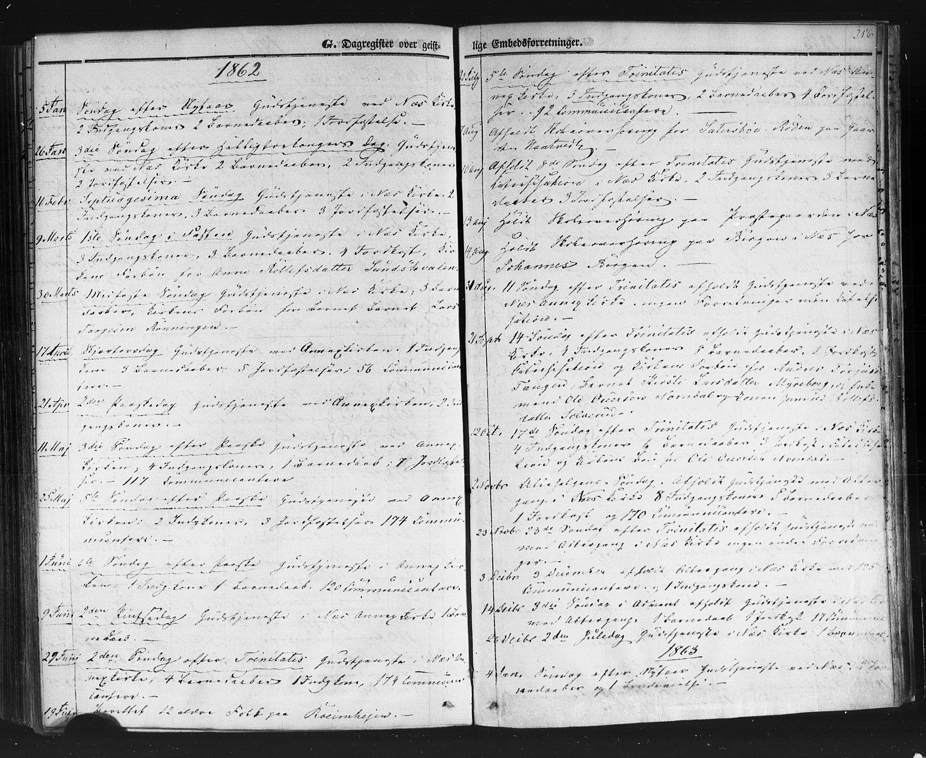 SAKO, Sauherad kirkebøker, F/Fb/L0001: Ministerialbok nr. II 1, 1851-1877, s. 256