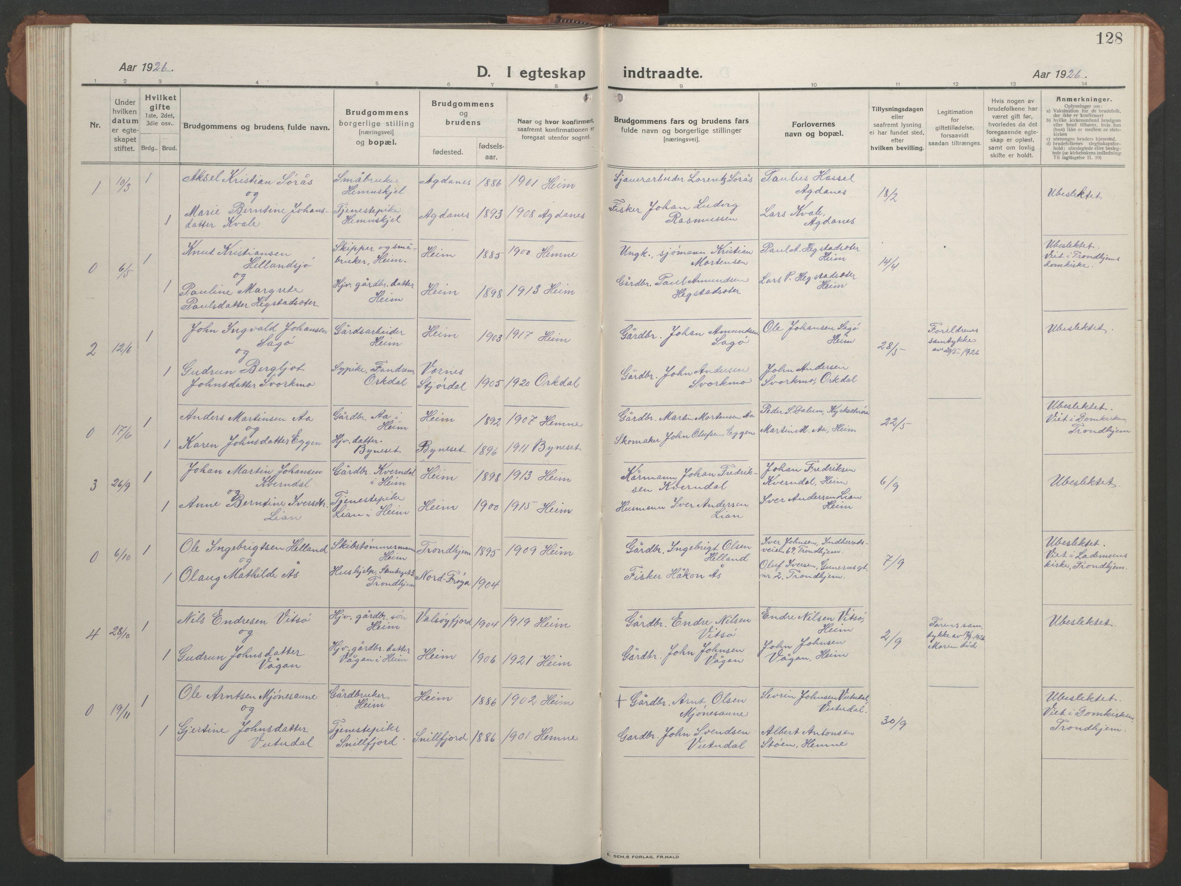 SAT, Ministerialprotokoller, klokkerbøker og fødselsregistre - Sør-Trøndelag, 633/L0521: Klokkerbok nr. 633C03, 1921-1941, s. 120