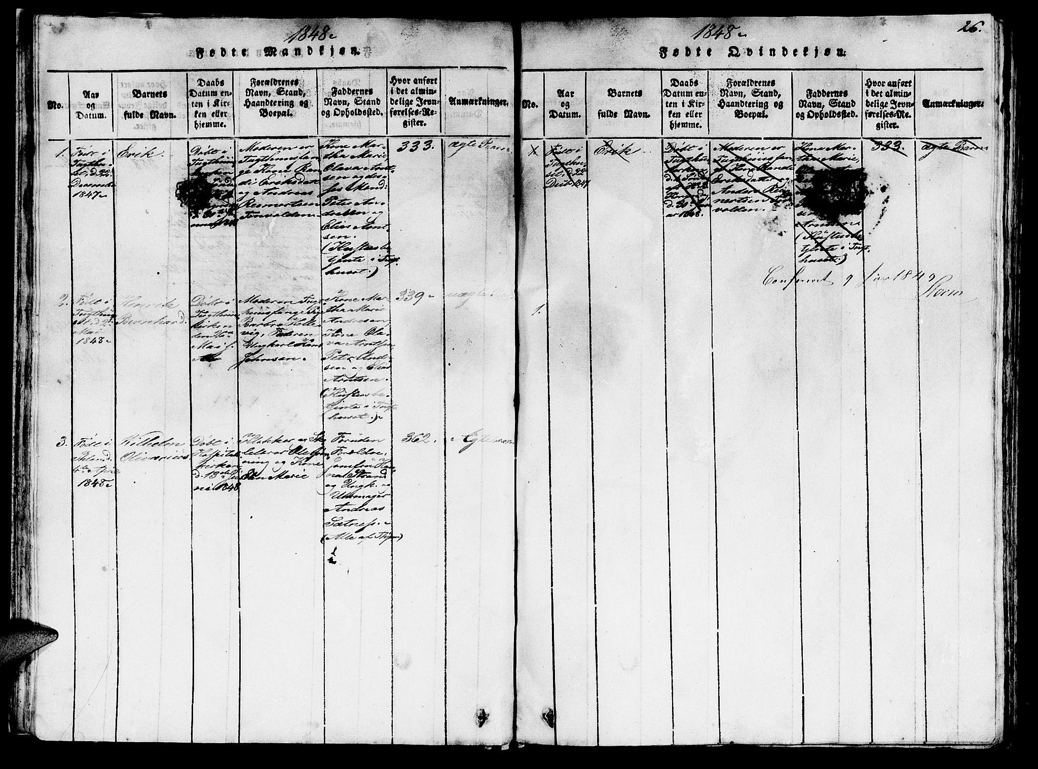 SAT, Ministerialprotokoller, klokkerbøker og fødselsregistre - Sør-Trøndelag, 623/L0478: Klokkerbok nr. 623C01, 1815-1873, s. 26