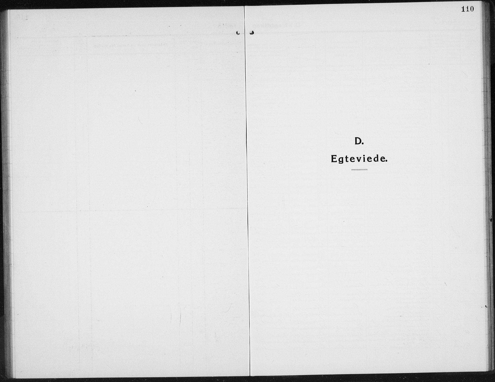 SAH, Gran prestekontor, Klokkerbok nr. 8, 1917-1935, s. 110