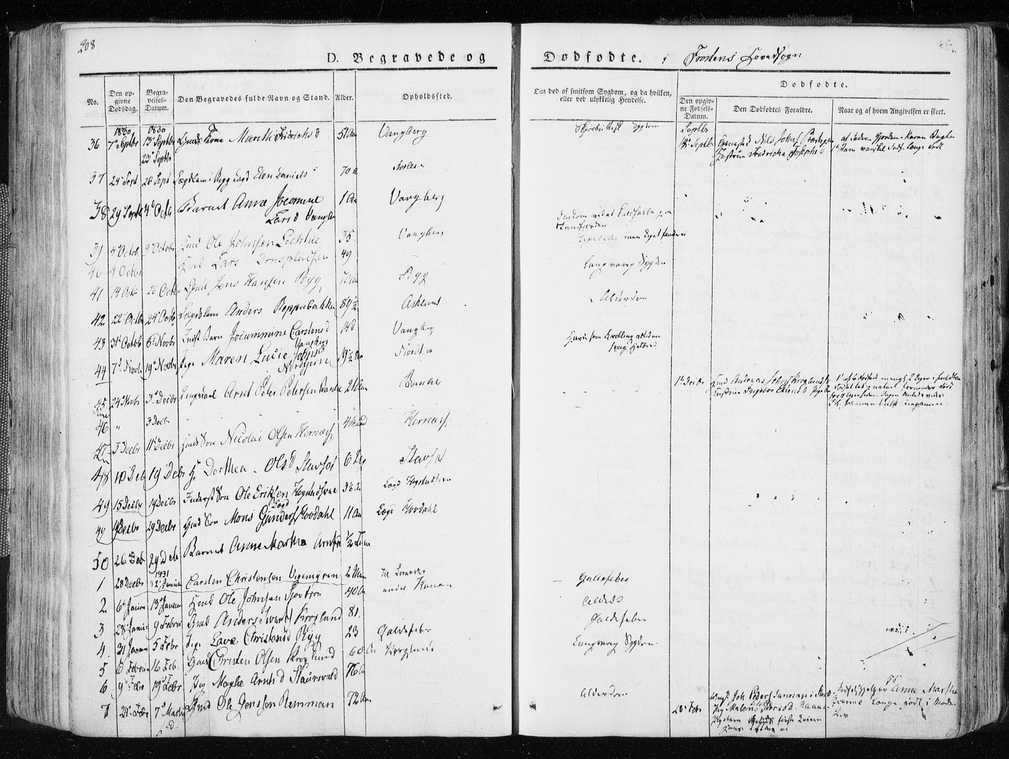 SAT, Ministerialprotokoller, klokkerbøker og fødselsregistre - Nord-Trøndelag, 713/L0114: Ministerialbok nr. 713A05, 1827-1839, s. 208