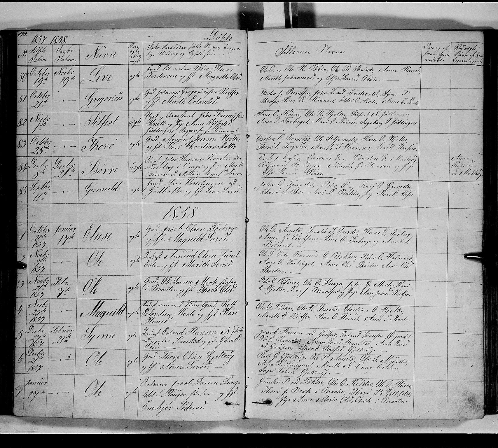 SAH, Lom prestekontor, L/L0004: Klokkerbok nr. 4, 1845-1864, s. 192-193