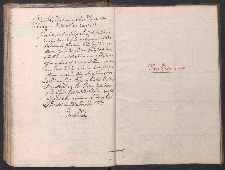 RA, Kommersekollegiet, Brannforsikringskontoret 1767-1814, F/Fa/L0001: Arendal, 1777-1786