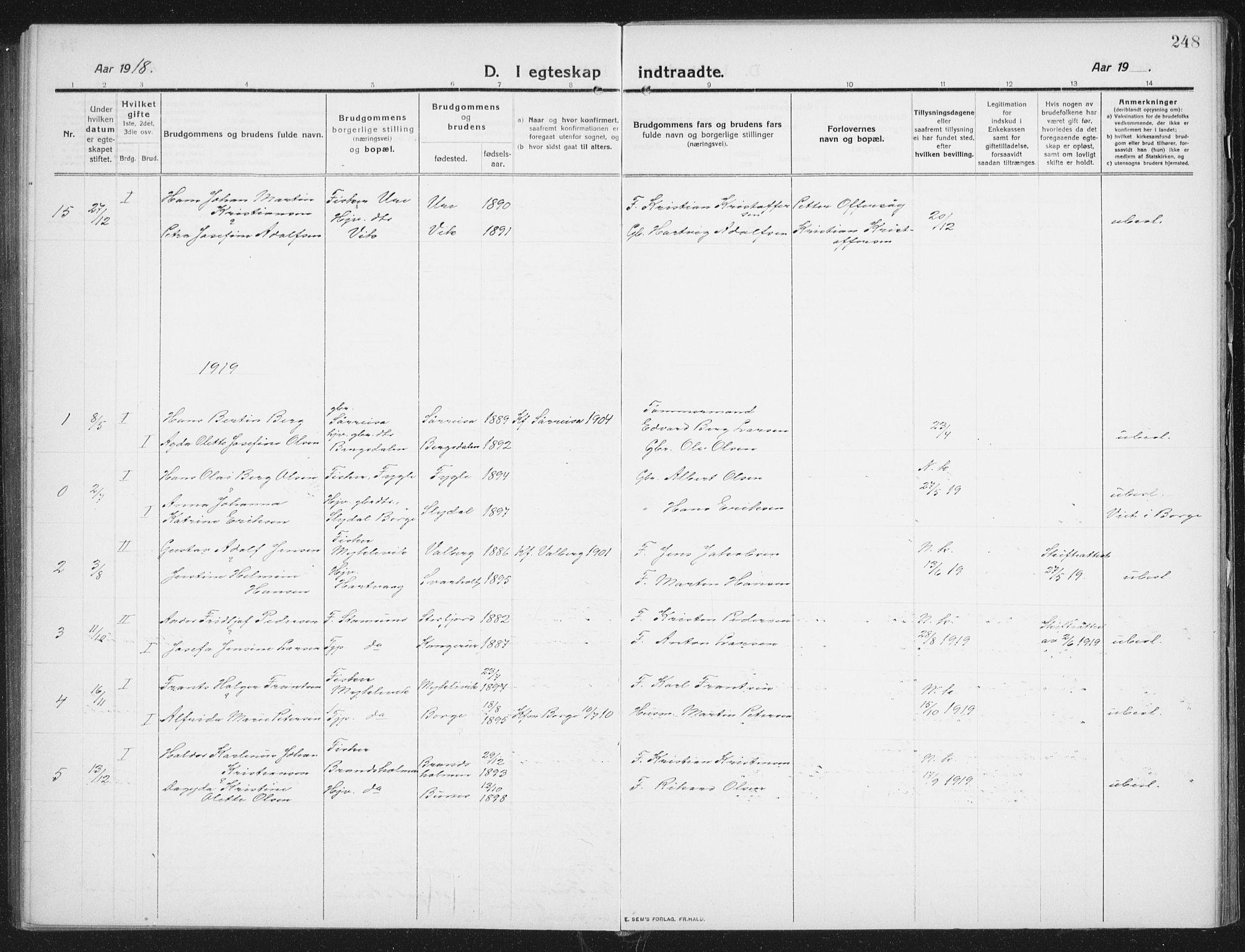 SAT, Ministerialprotokoller, klokkerbøker og fødselsregistre - Nordland, 882/L1183: Klokkerbok nr. 882C01, 1911-1938, s. 248