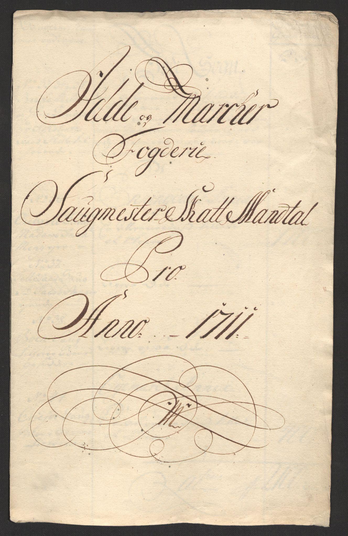 RA, Rentekammeret inntil 1814, Reviderte regnskaper, Fogderegnskap, R01/L0020: Fogderegnskap Idd og Marker, 1711, s. 87