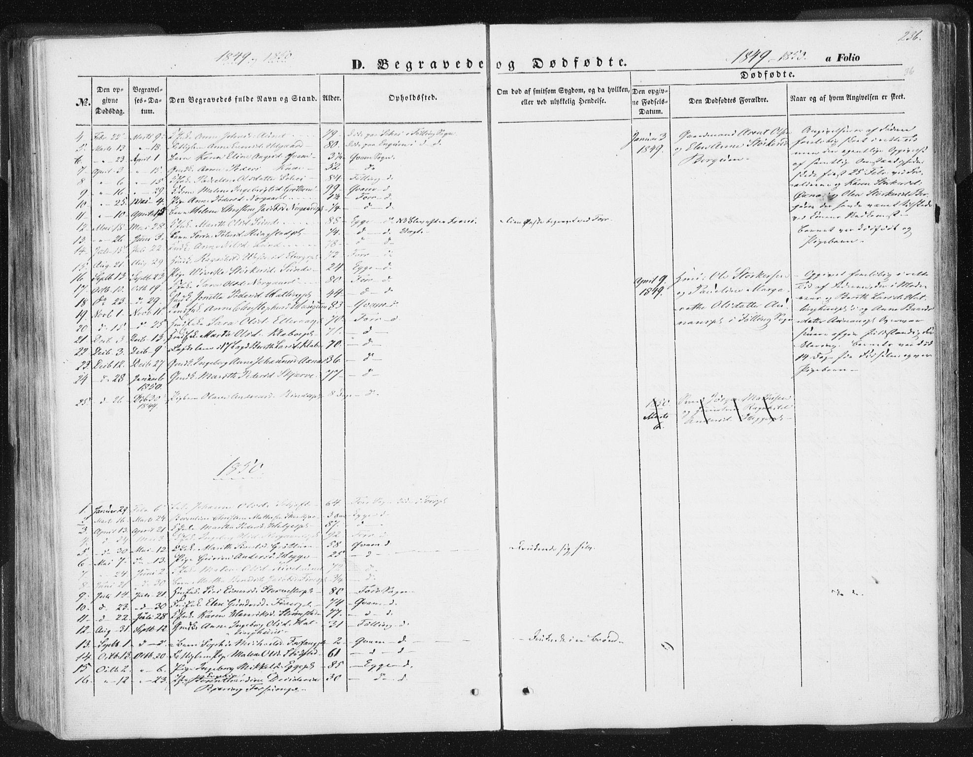 SAT, Ministerialprotokoller, klokkerbøker og fødselsregistre - Nord-Trøndelag, 746/L0446: Ministerialbok nr. 746A05, 1846-1859, s. 236