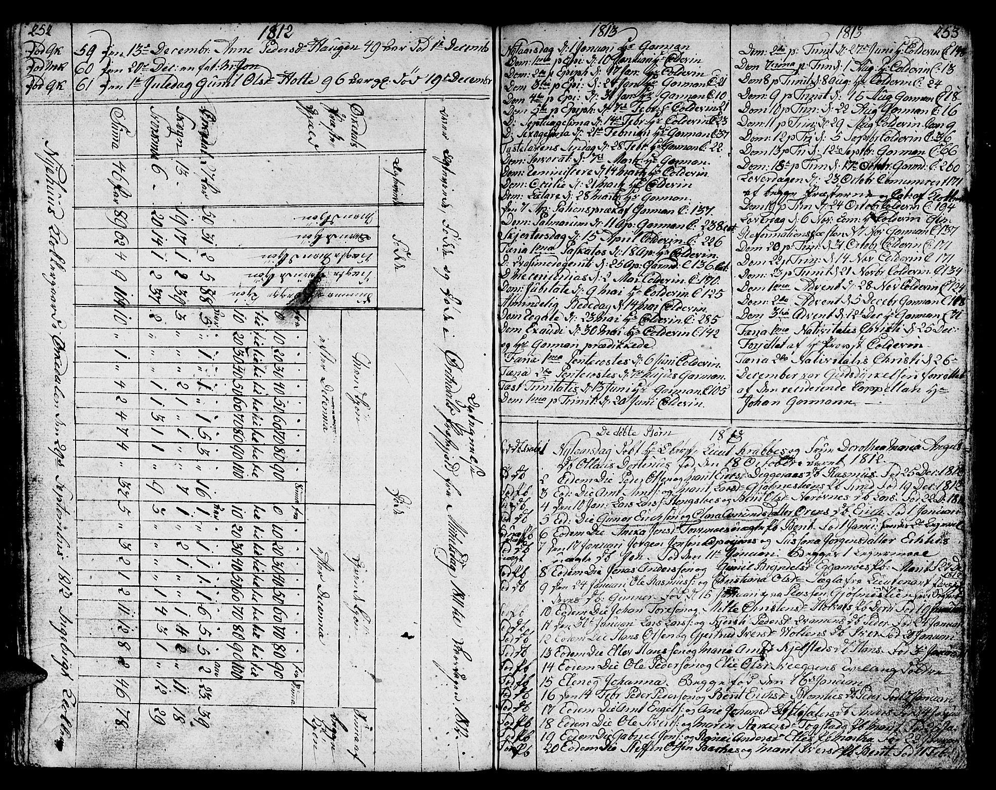 SAT, Ministerialprotokoller, klokkerbøker og fødselsregistre - Sør-Trøndelag, 668/L0815: Klokkerbok nr. 668C04, 1791-1815, s. 252-253