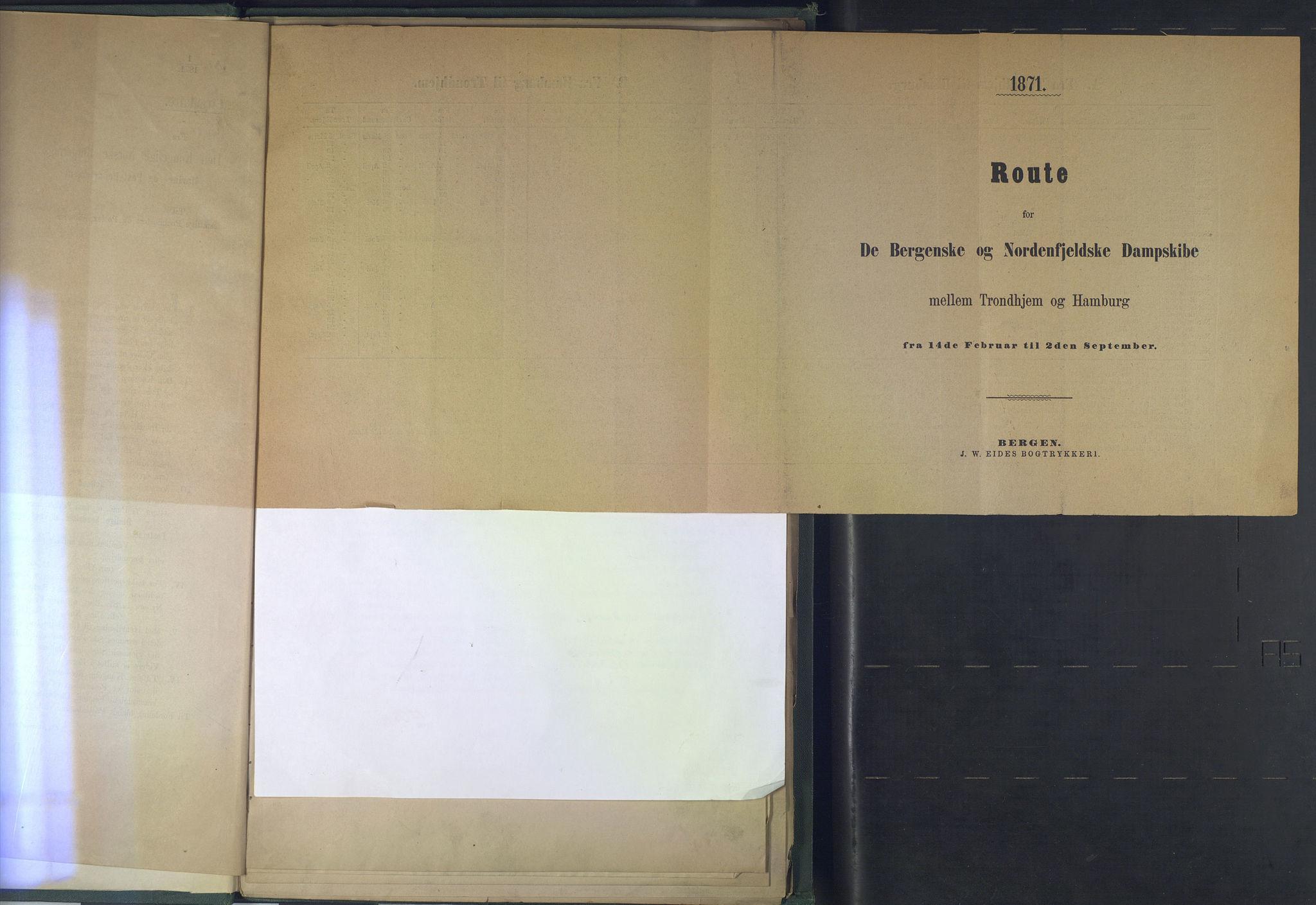 NOPO, Norges Postmuseums bibliotek, -/-: Sirkulærer fra Den Kongelige Norske Regjerings Marine- og Postdepartement, 1871