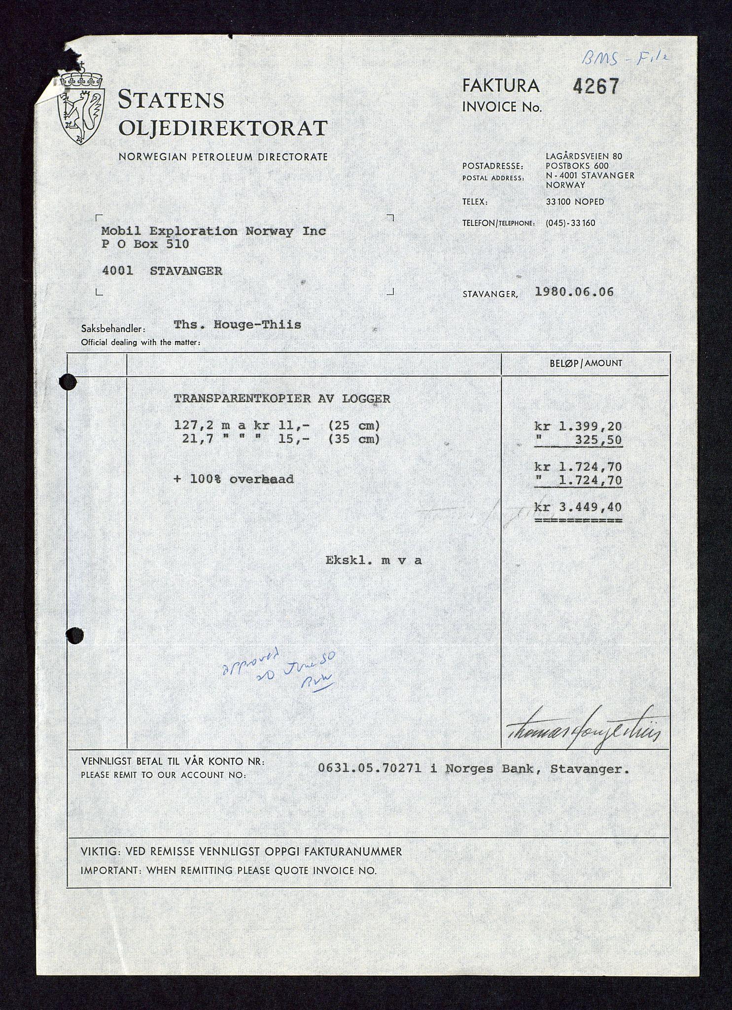 SAST, Pa 1578 - Mobil Exploration Norway Incorporated, D/Da/L0115: S.E. Smith - Sak og korrespondanse, 1974-1981, s. 390