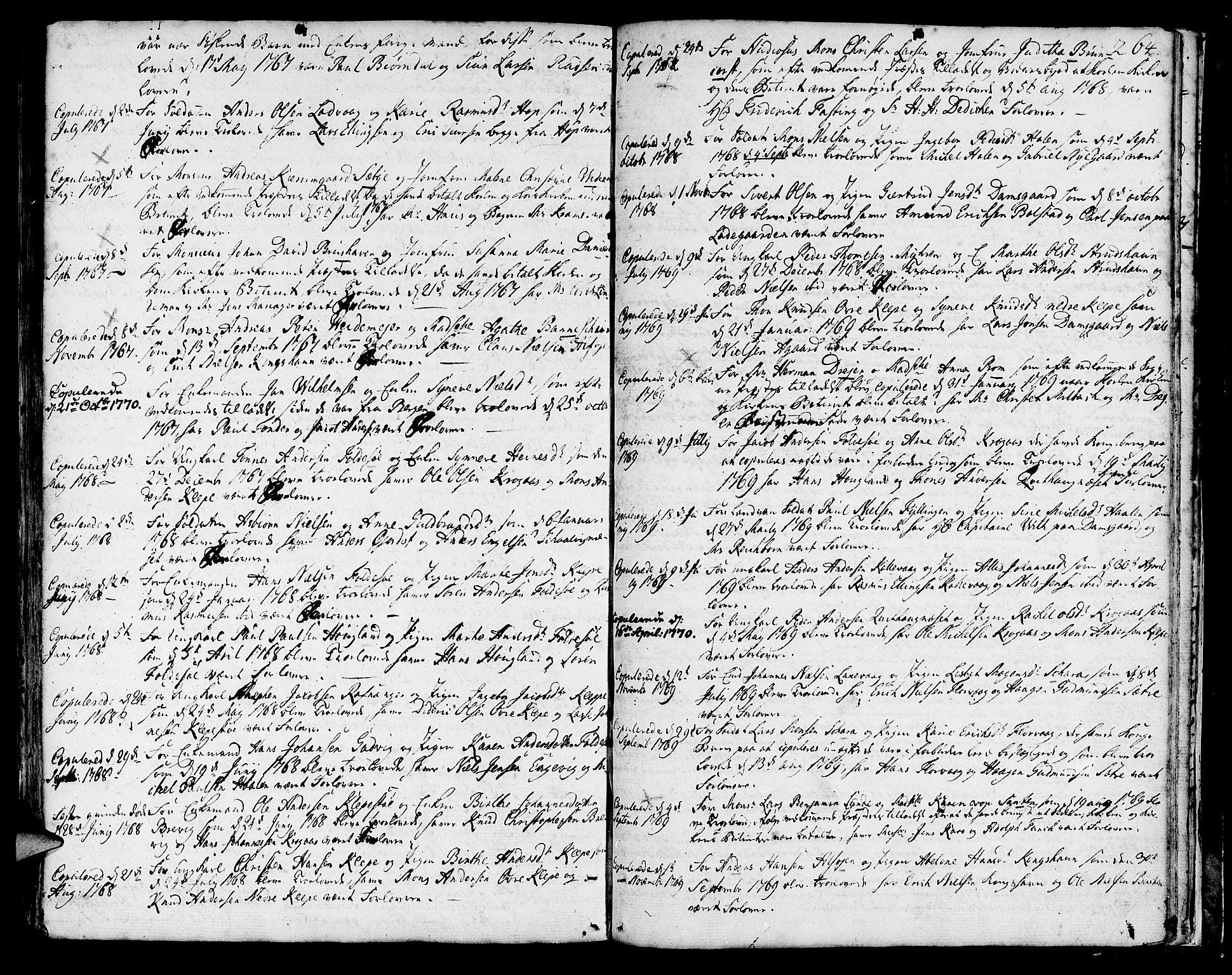 SAB, Askøy Sokneprestembete, H: Ministerialbok nr. A 1, 1742-1818, s. 264