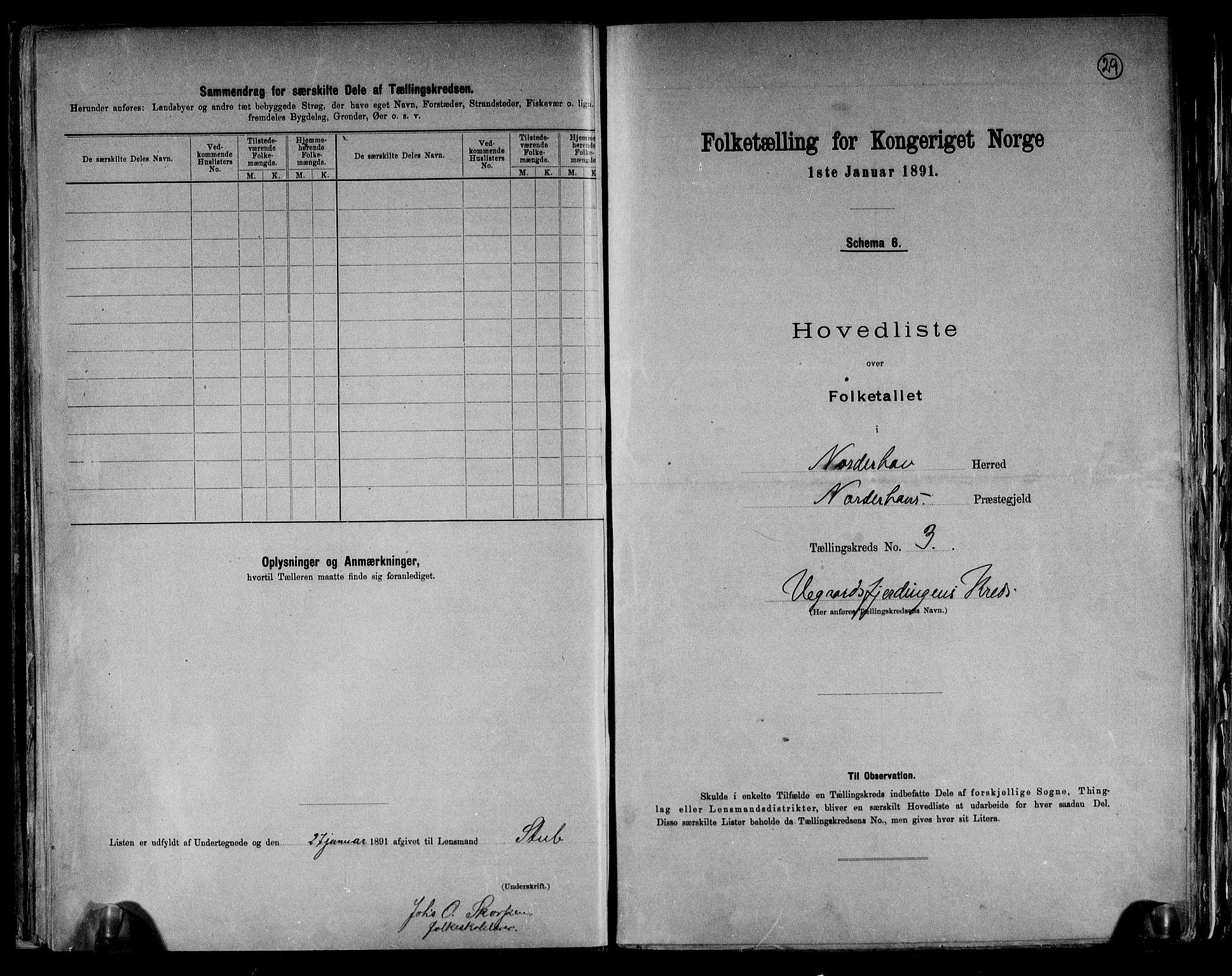 RA, Folketelling 1891 for 0613 Norderhov herred, 1891, s. 8