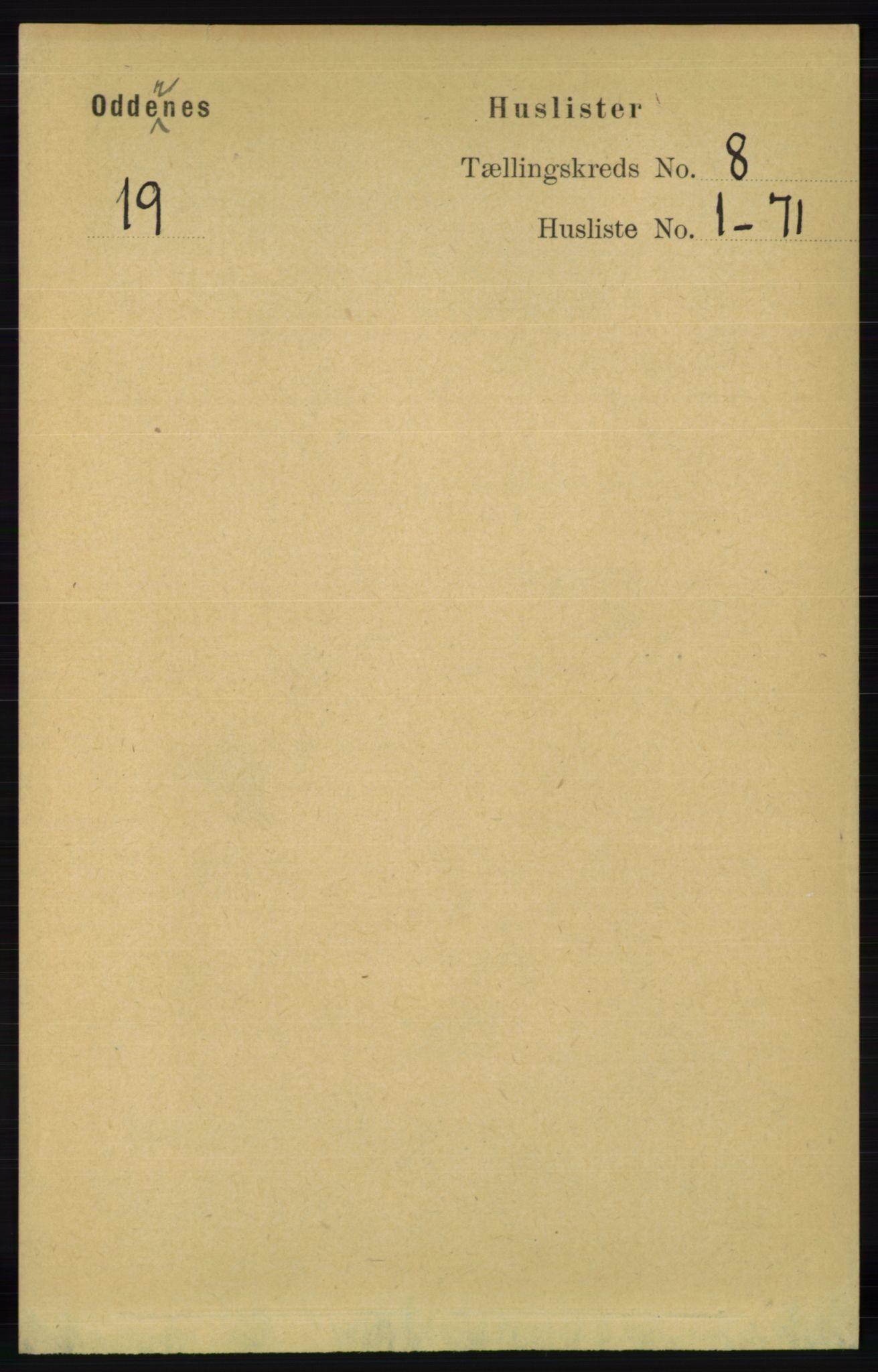 RA, Folketelling 1891 for 1012 Oddernes herred, 1891, s. 2632