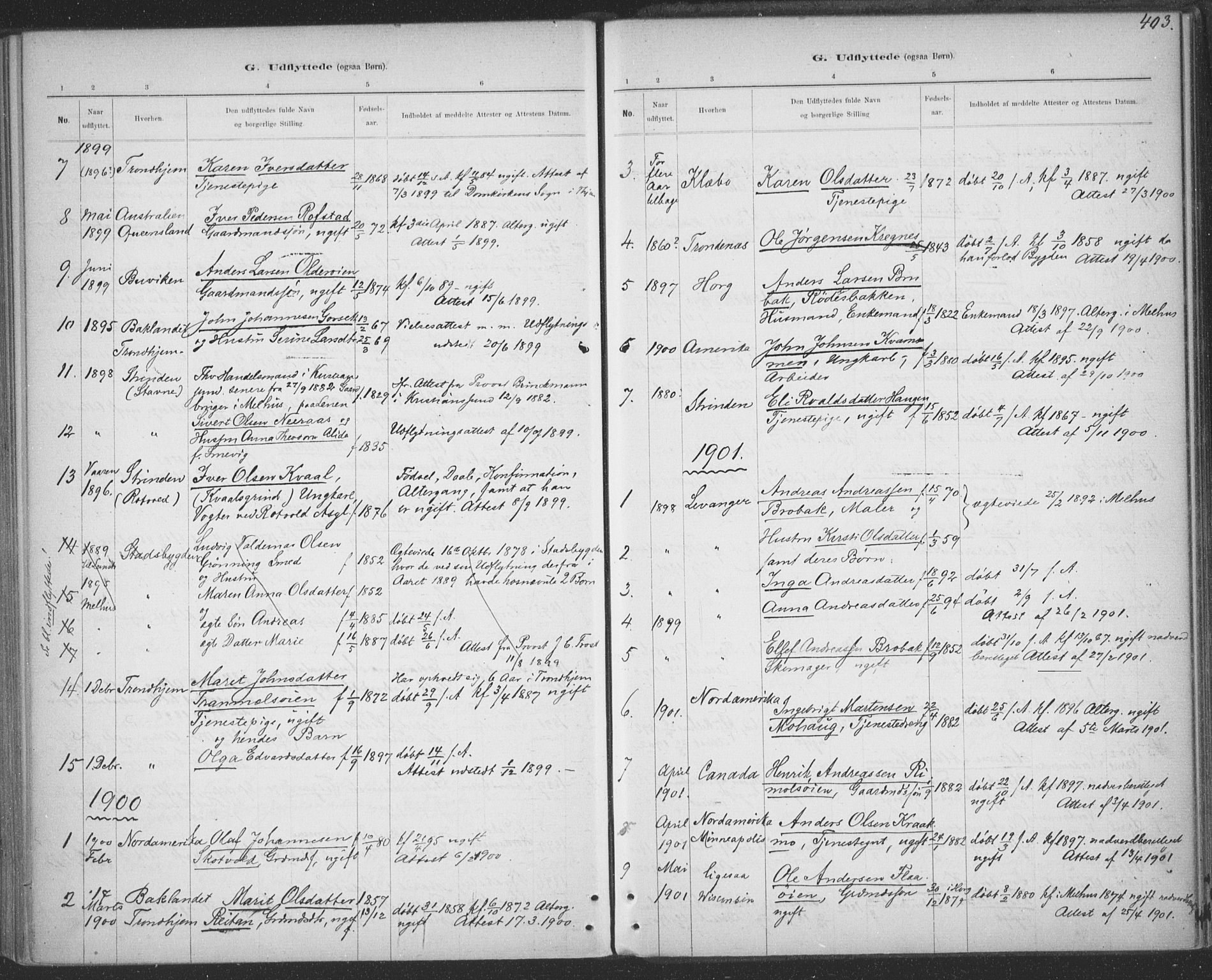 SAT, Ministerialprotokoller, klokkerbøker og fødselsregistre - Sør-Trøndelag, 691/L1085: Ministerialbok nr. 691A17, 1887-1908, s. 403