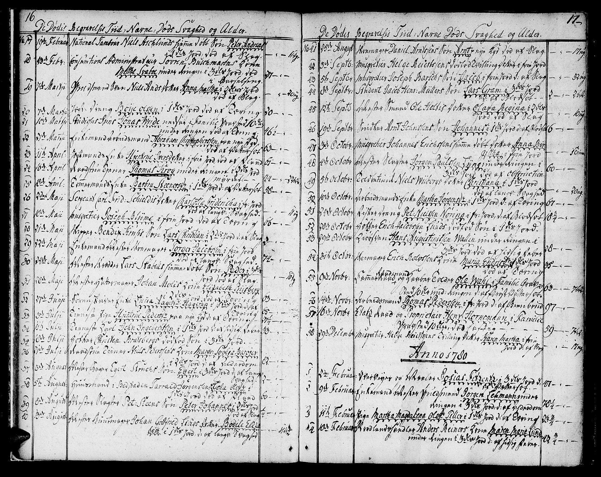 SAT, Ministerialprotokoller, klokkerbøker og fødselsregistre - Sør-Trøndelag, 602/L0106: Ministerialbok nr. 602A04, 1774-1814, s. 16-17