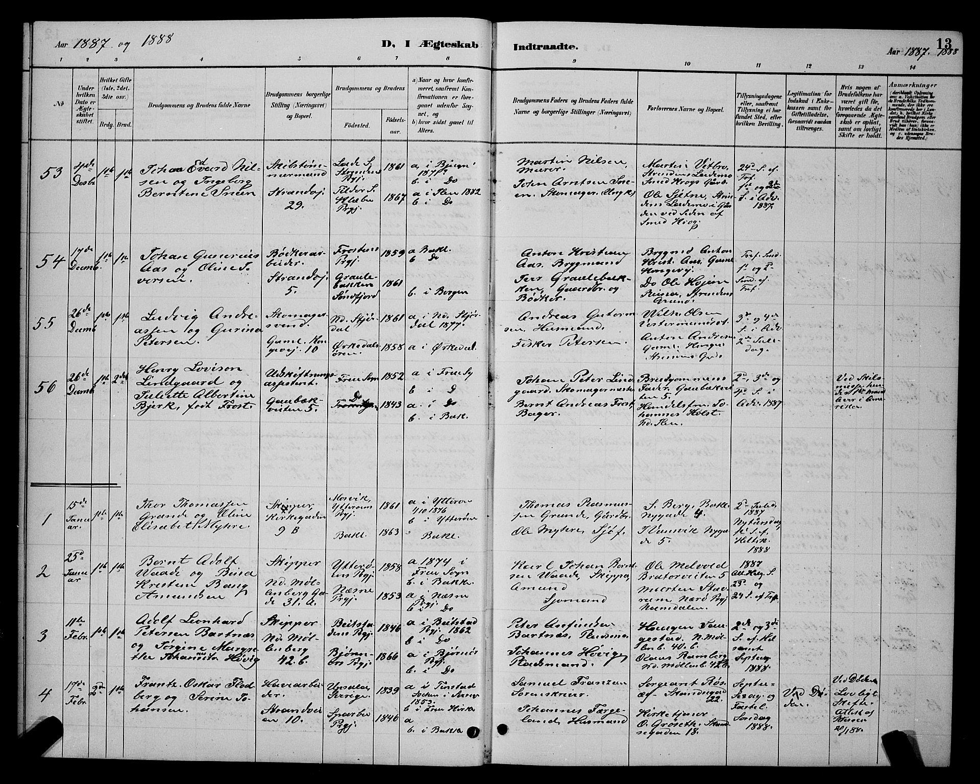 SAT, Ministerialprotokoller, klokkerbøker og fødselsregistre - Sør-Trøndelag, 604/L0223: Klokkerbok nr. 604C06, 1886-1897, s. 13