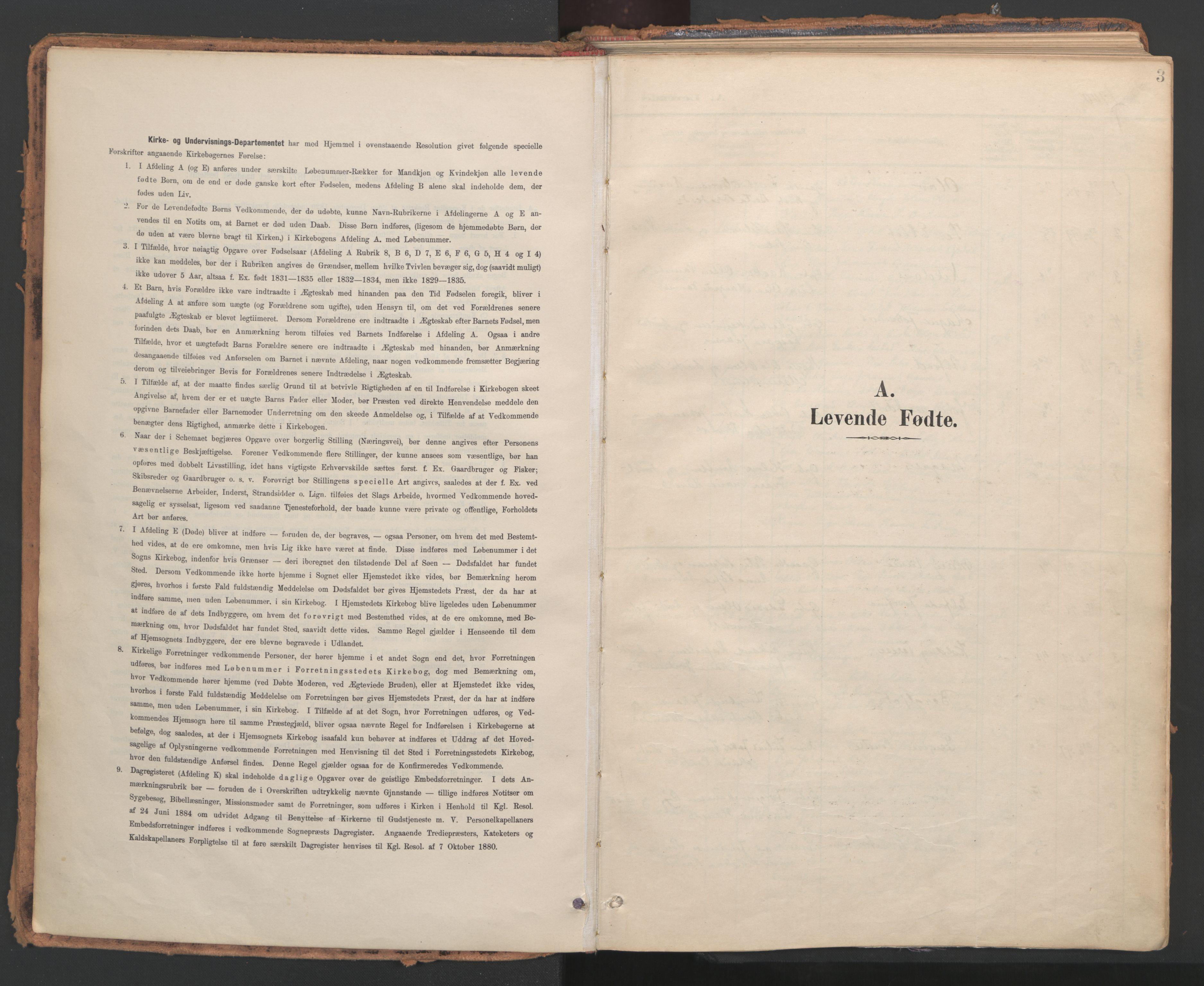 SAT, Ministerialprotokoller, klokkerbøker og fødselsregistre - Nord-Trøndelag, 766/L0564: Ministerialbok nr. 767A02, 1900-1932, s. 3