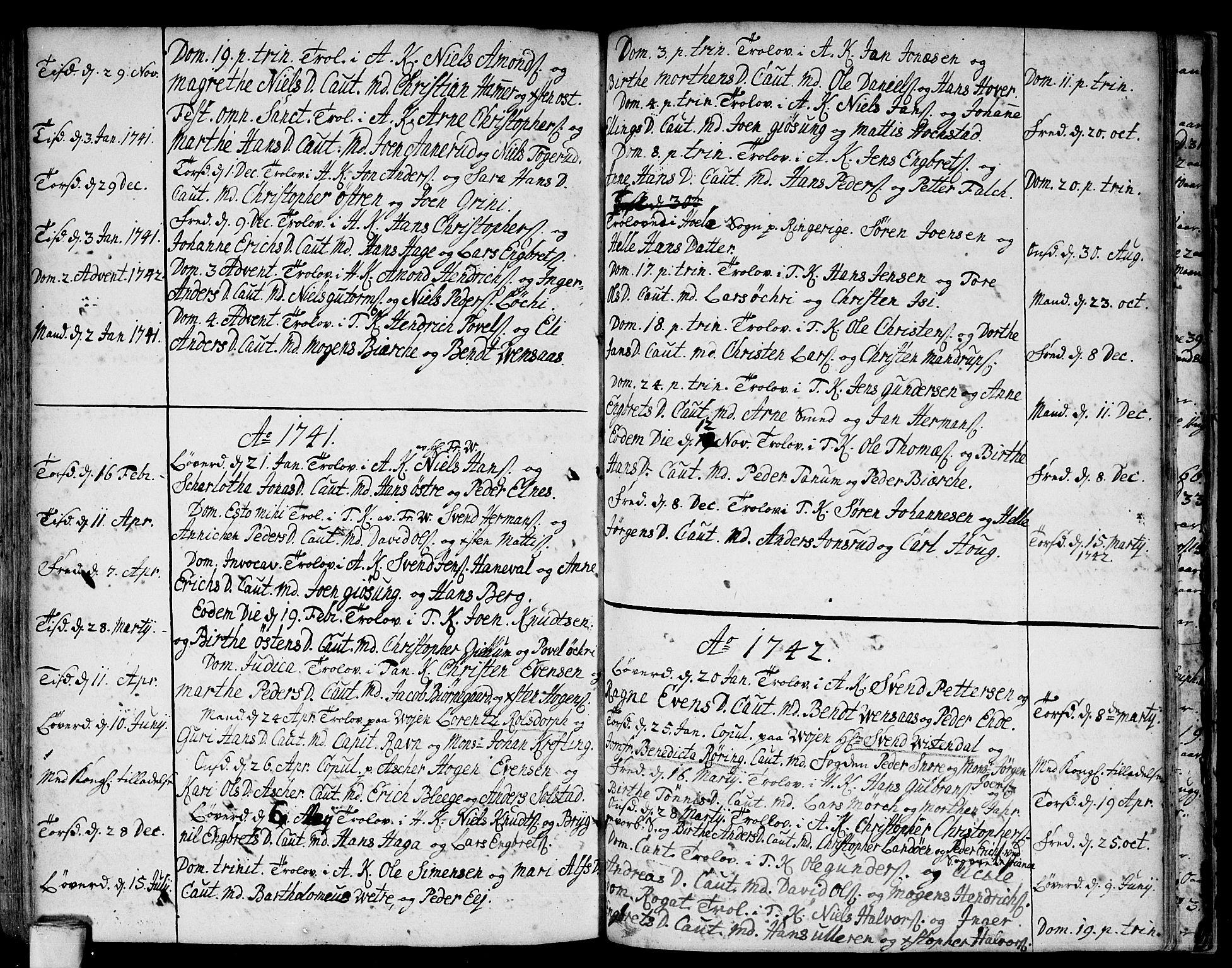 SAO, Asker prestekontor Kirkebøker, F/Fa/L0001: Ministerialbok nr. I 1, 1726-1744, s. 92
