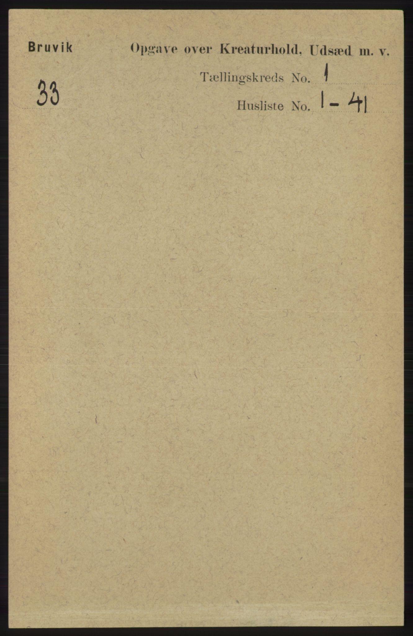 RA, Folketelling 1891 for 1251 Bruvik herred, 1891, s. 4148