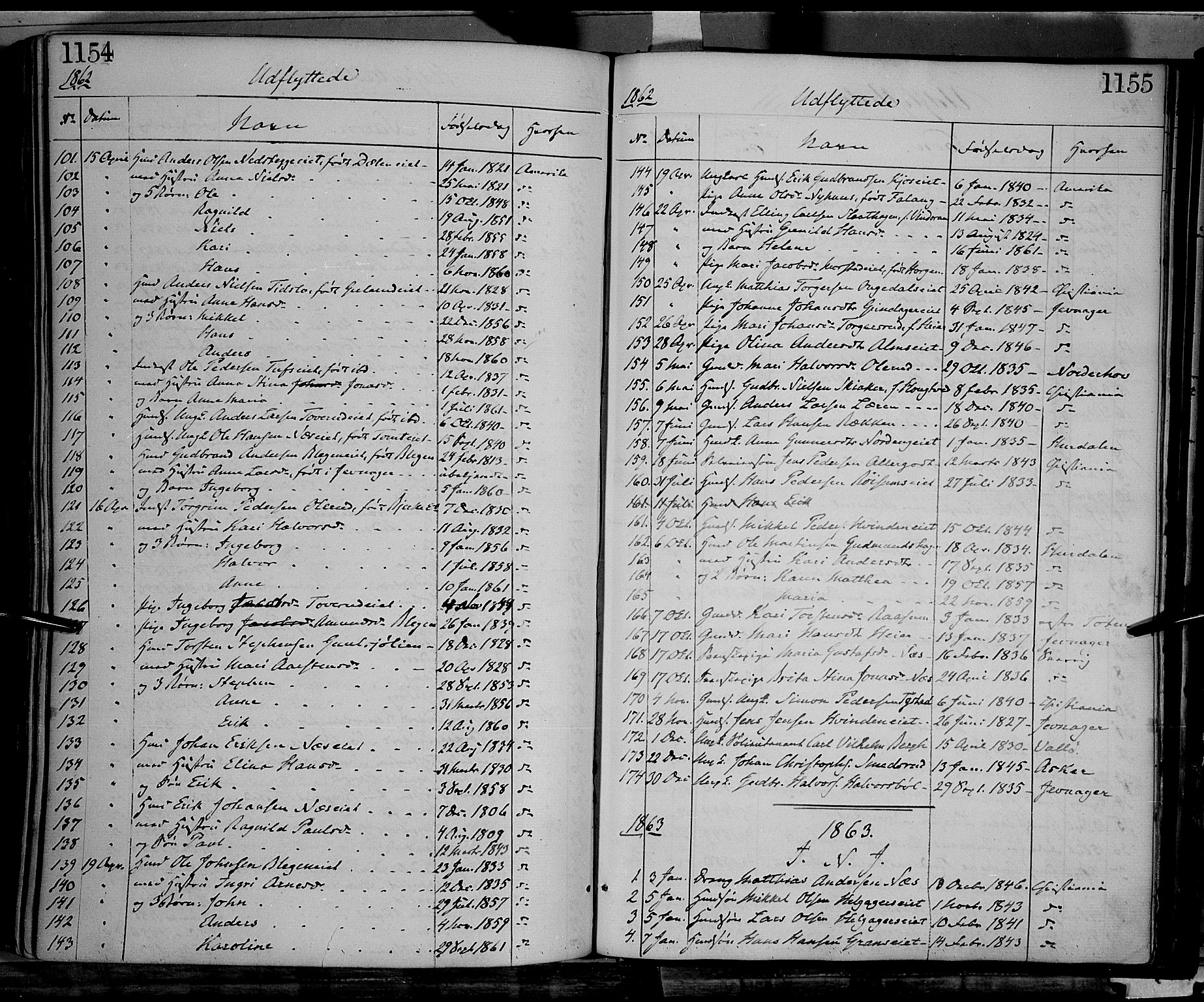 SAH, Gran prestekontor, Ministerialbok nr. 12, 1856-1874, s. 1154-1155