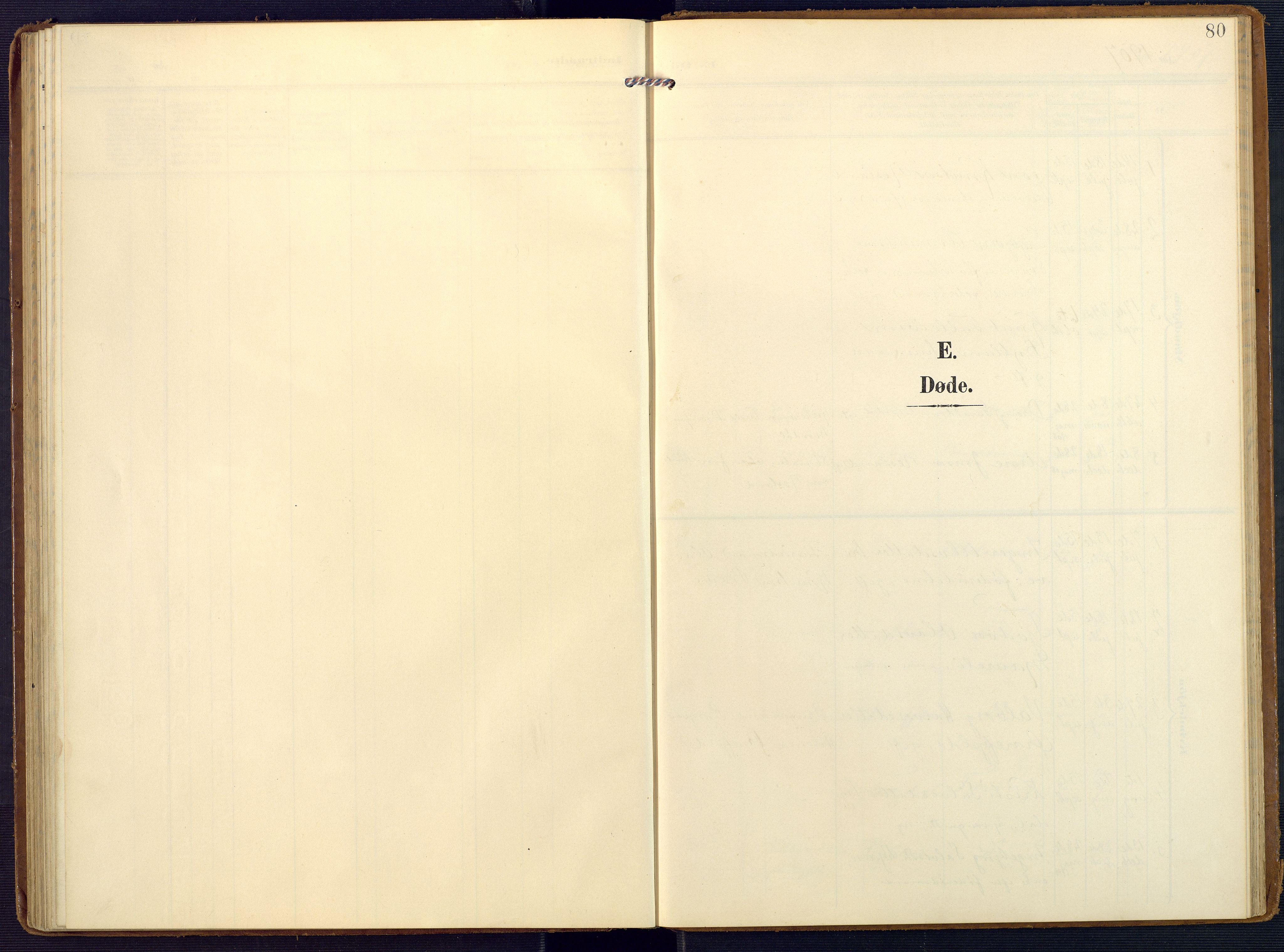 SAK, Valle sokneprestkontor, F/Fa/Faa/L0002: Ministerialbok nr. A 2, 1907-1919, s. 80