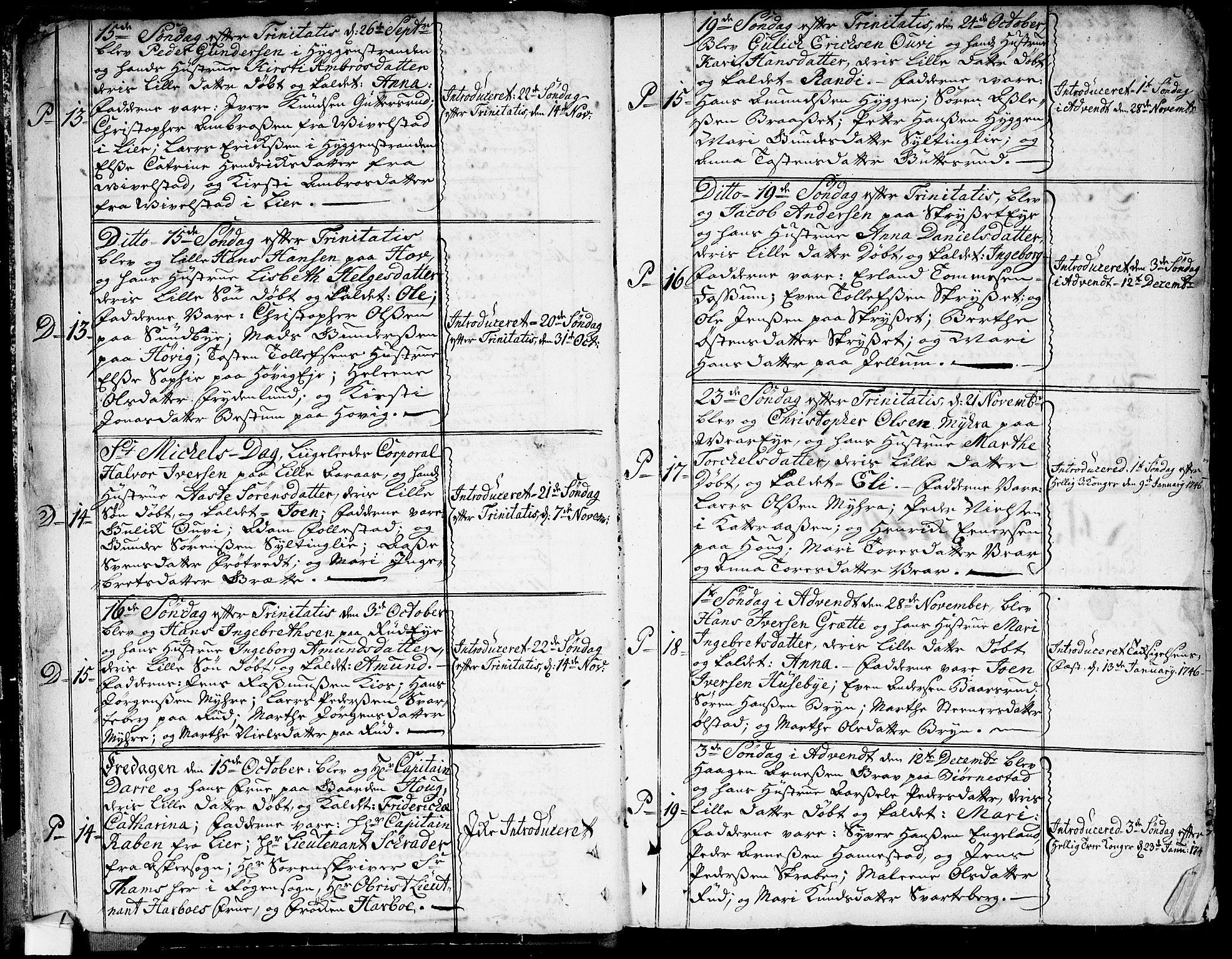 SAKO, Røyken kirkebøker, G/Ga/L0001: Klokkerbok nr. 1, 1740-1768, s. 32-33