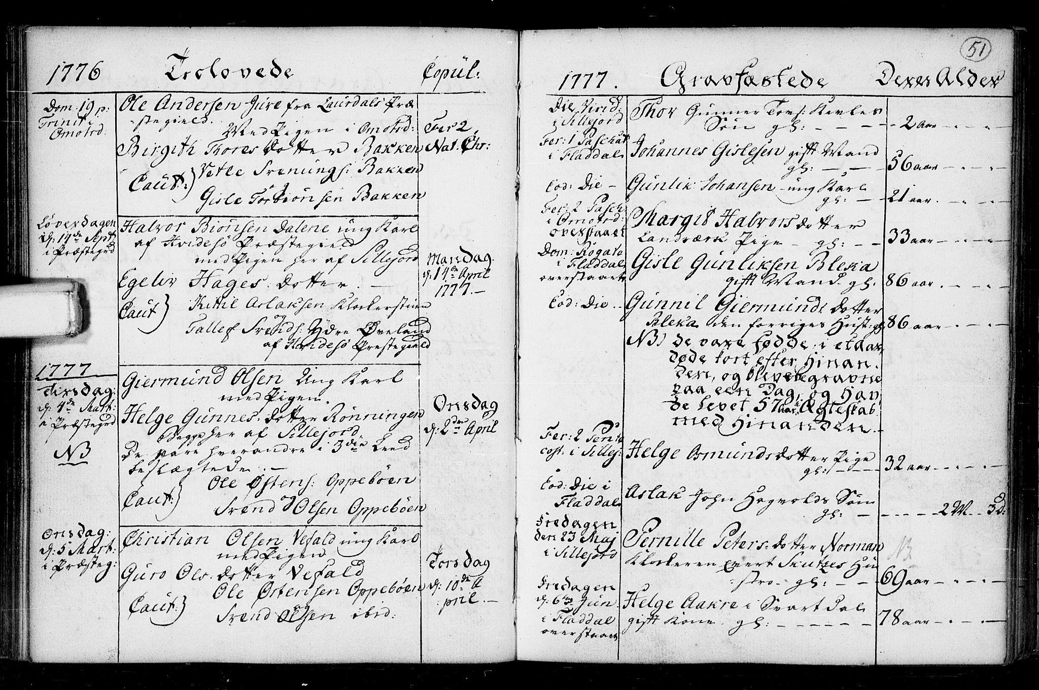 SAKO, Seljord kirkebøker, F/Fa/L0008: Ministerialbok nr. I 8, 1755-1814, s. 51