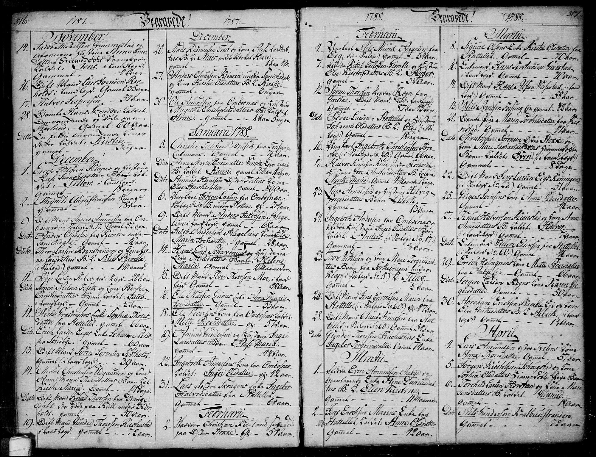 SAKO, Bamble kirkebøker, F/Fa/L0002: Ministerialbok nr. I 2, 1775-1814, s. 516-517