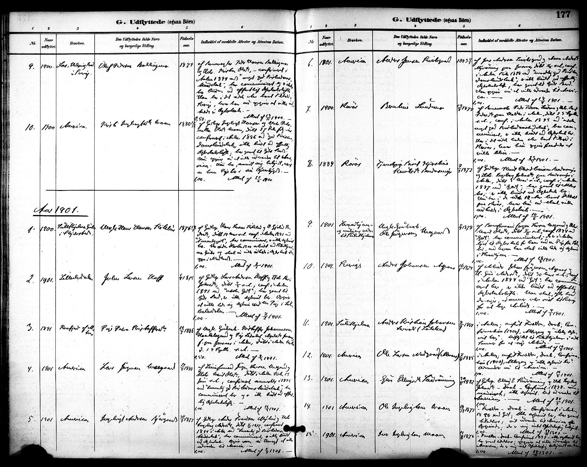 SAT, Ministerialprotokoller, klokkerbøker og fødselsregistre - Sør-Trøndelag, 686/L0984: Ministerialbok nr. 686A02, 1891-1906, s. 177