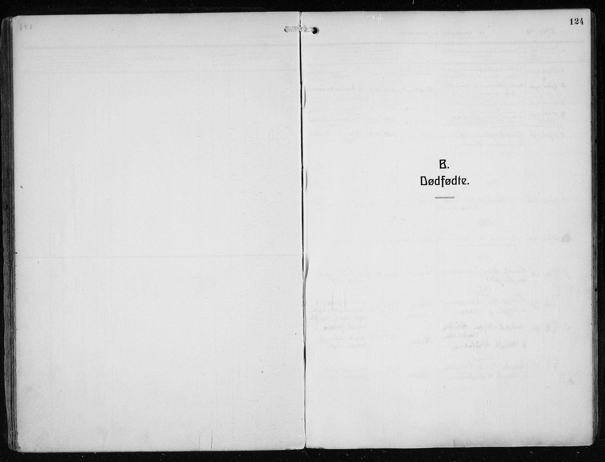 SAST, Haugesund sokneprestkontor, H/Ha/Haa/L0010: Ministerialbok nr. A 10, 1909-1935, s. 124