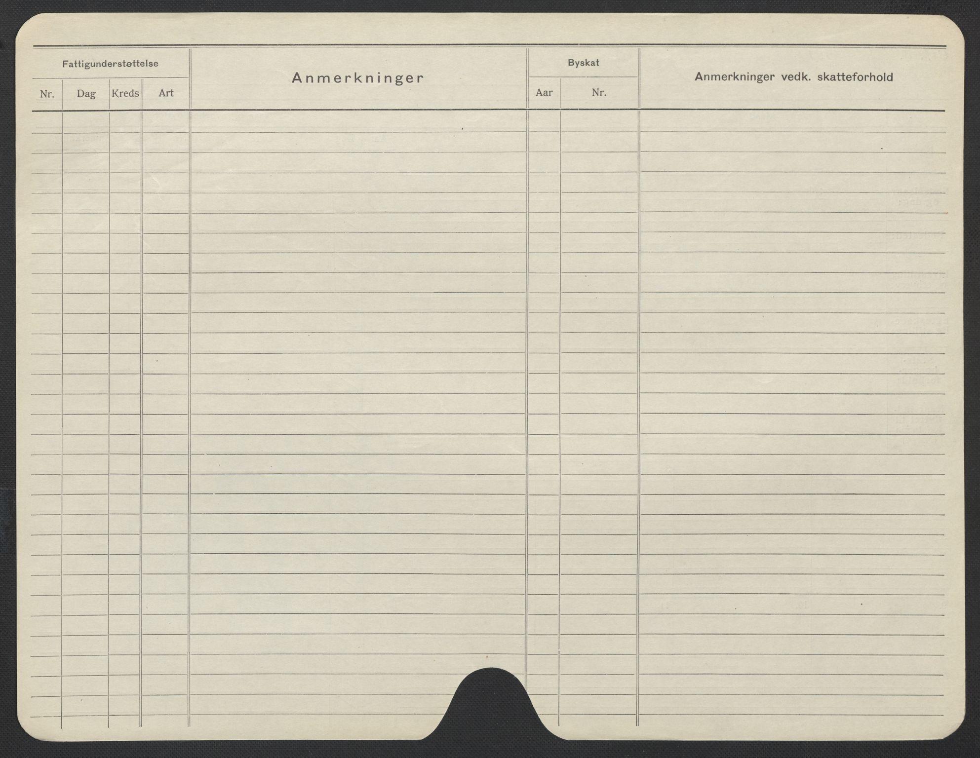 SAO, Oslo folkeregister, Registerkort, F/Fa/Fac/L0019: Kvinner, 1906-1914, s. 1176b