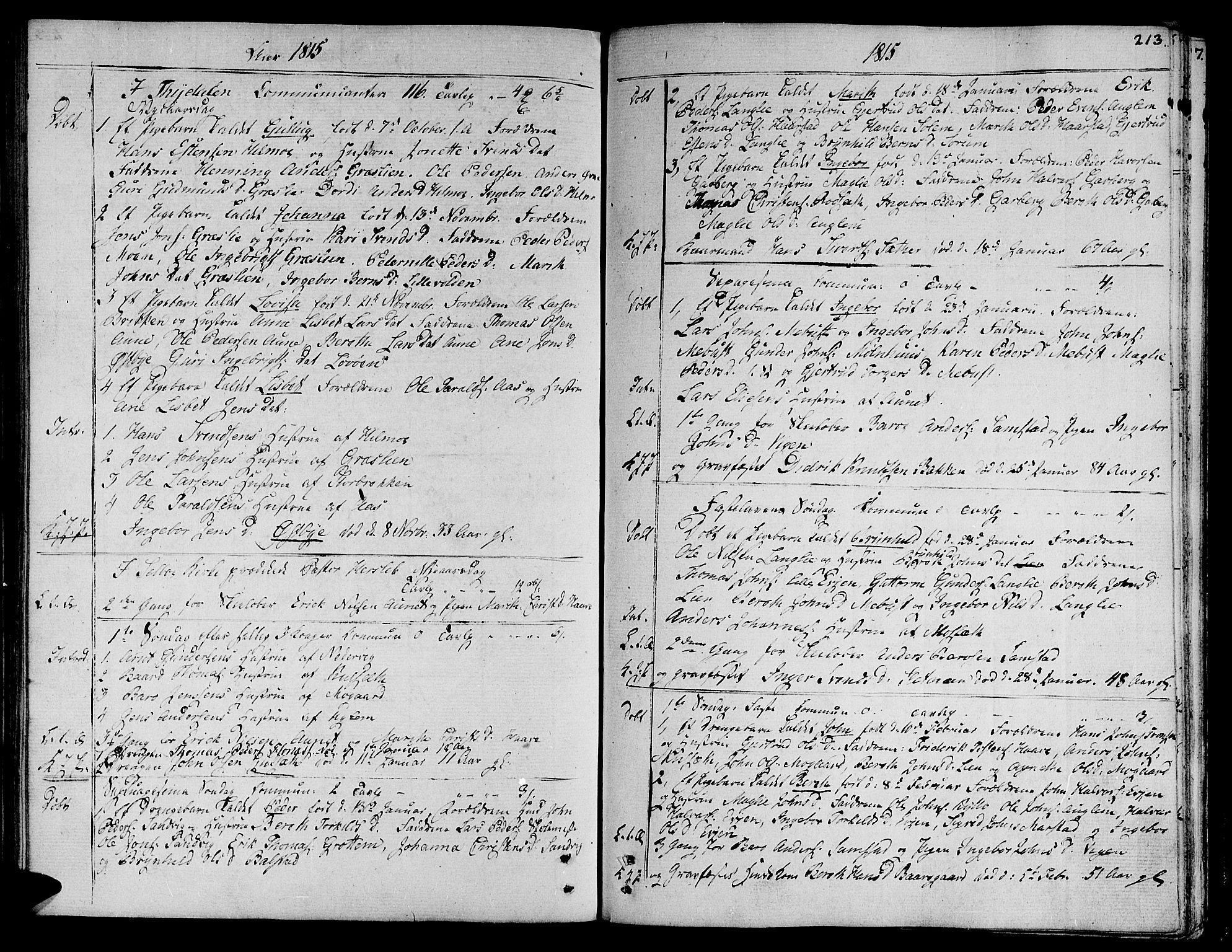 SAT, Ministerialprotokoller, klokkerbøker og fødselsregistre - Sør-Trøndelag, 695/L1140: Ministerialbok nr. 695A03, 1801-1815, s. 213