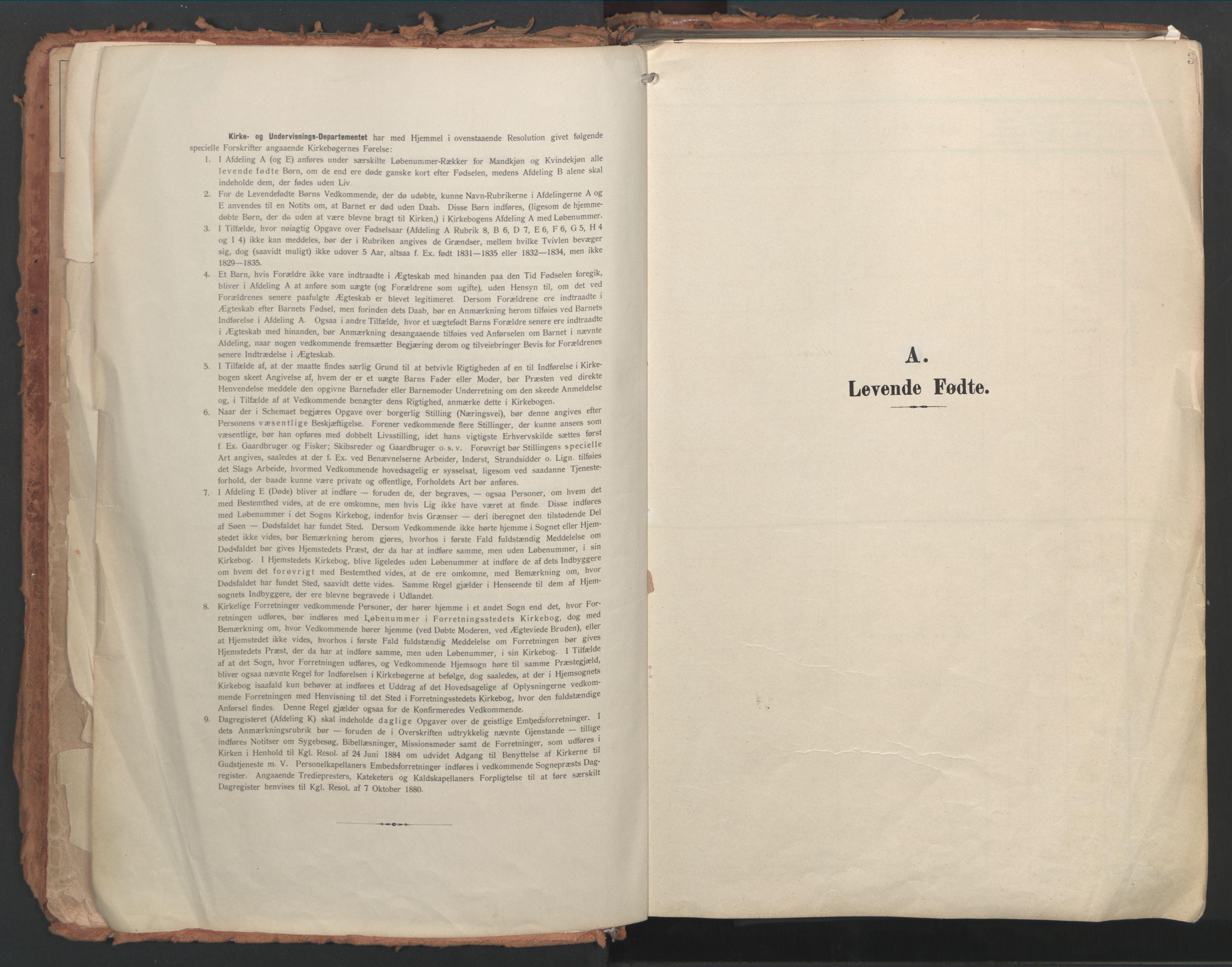 SAT, Ministerialprotokoller, klokkerbøker og fødselsregistre - Møre og Romsdal, 529/L0460: Ministerialbok nr. 529A10, 1906-1917, s. 3