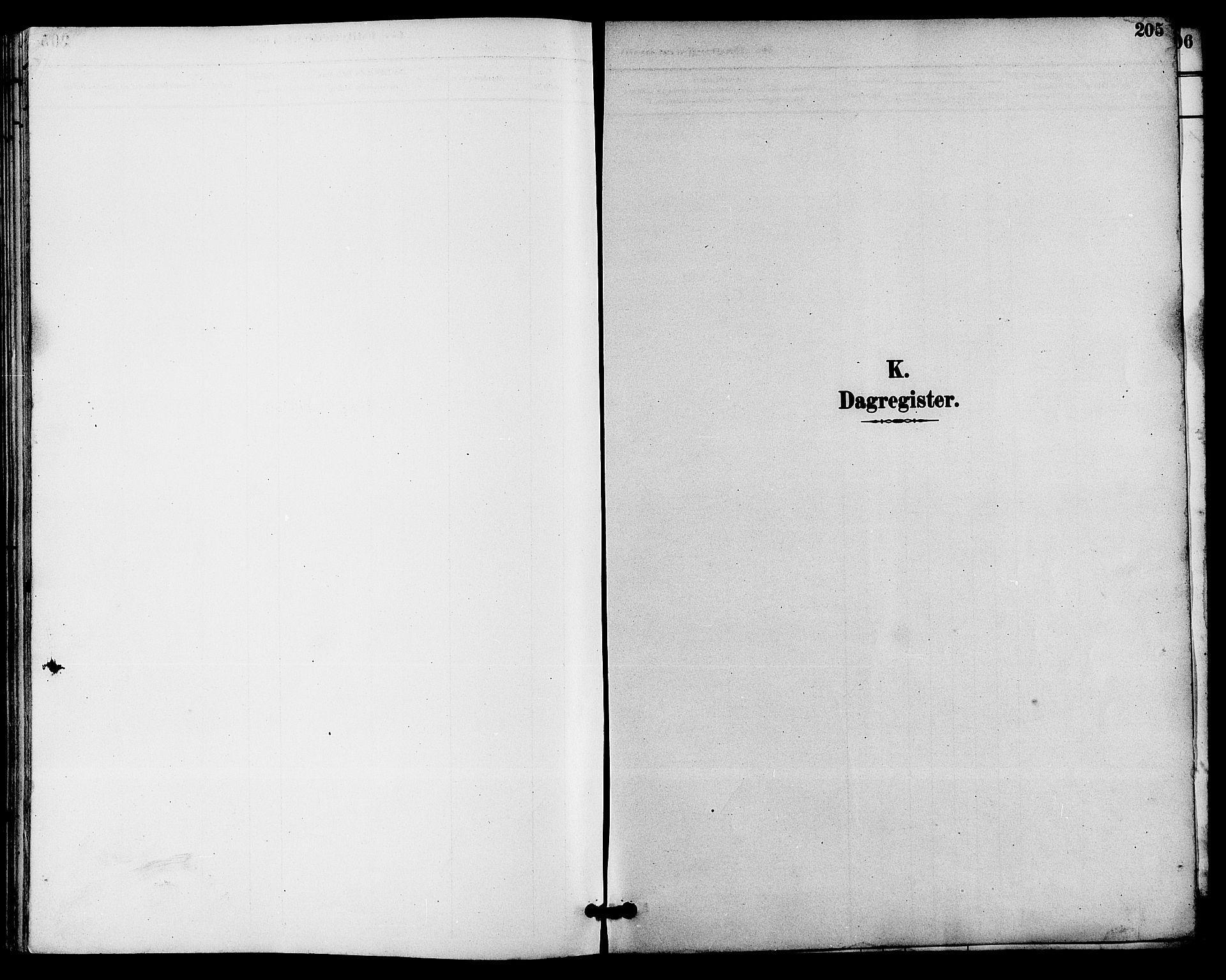 SAKO, Seljord kirkebøker, G/Ga/L0005: Klokkerbok nr. I 5, 1887-1914, s. 205