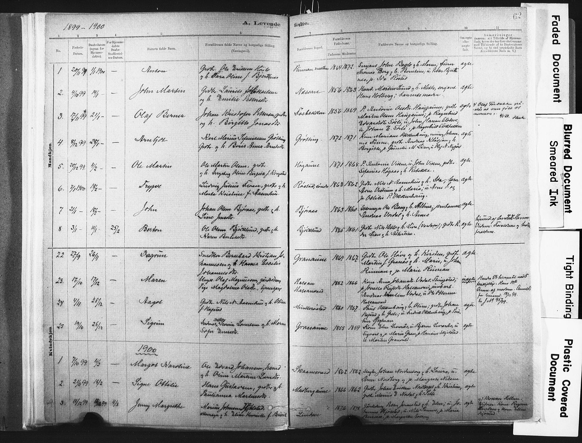 SAT, Ministerialprotokoller, klokkerbøker og fødselsregistre - Nord-Trøndelag, 721/L0207: Ministerialbok nr. 721A02, 1880-1911, s. 62