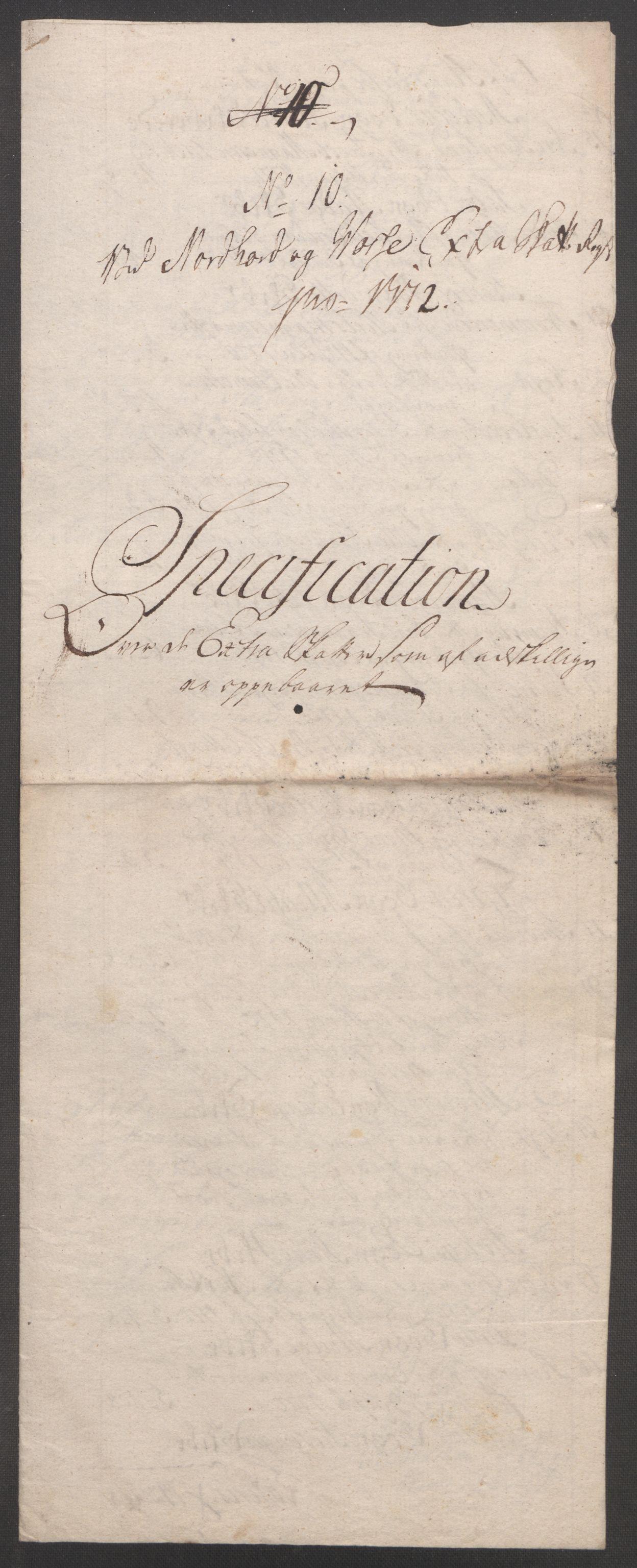 RA, Rentekammeret inntil 1814, Reviderte regnskaper, Fogderegnskap, R51/L3303: Ekstraskatten Nordhordland og Voss, 1762-1772, s. 691