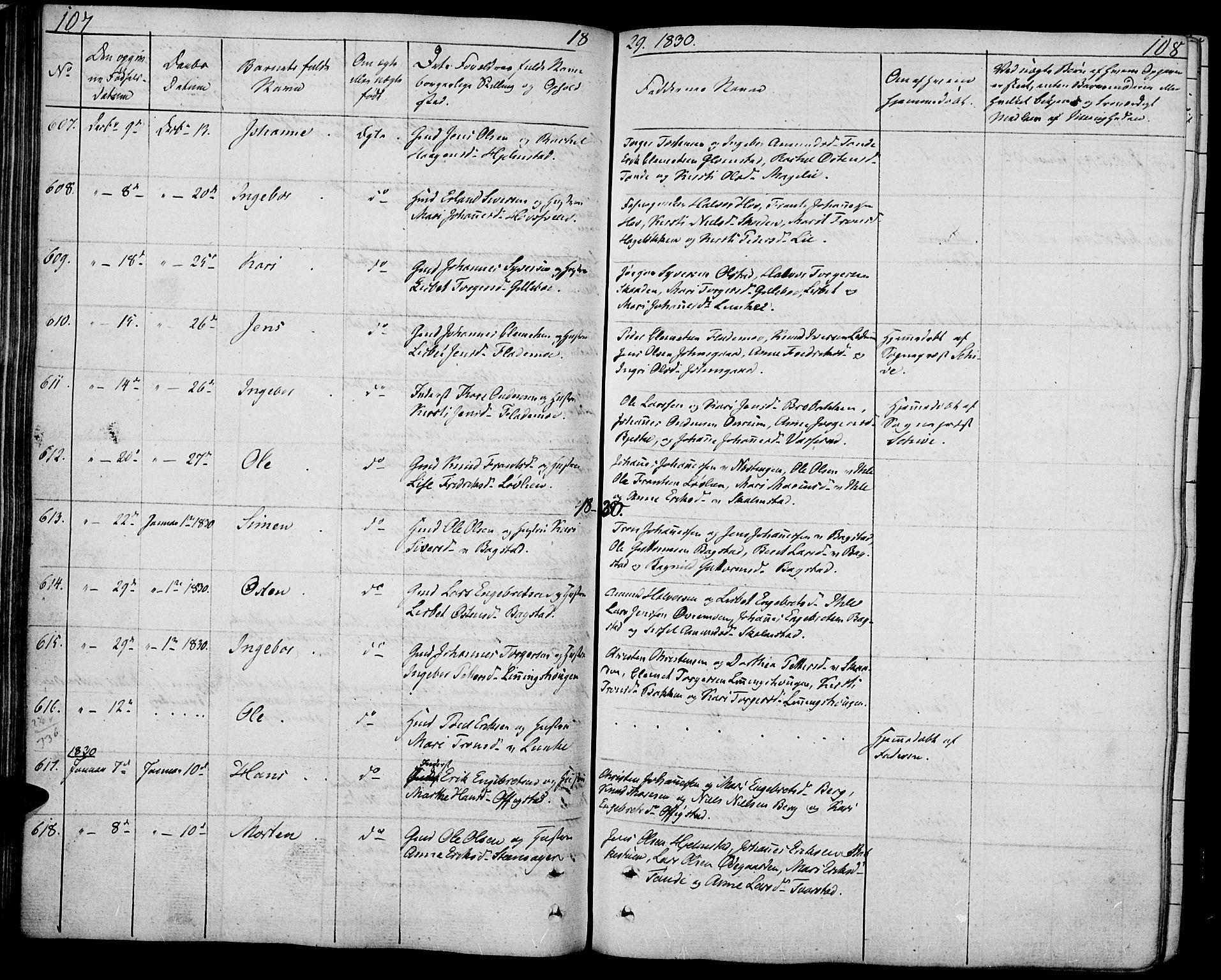 SAH, Øyer prestekontor, Ministerialbok nr. 4, 1824-1841, s. 107-108