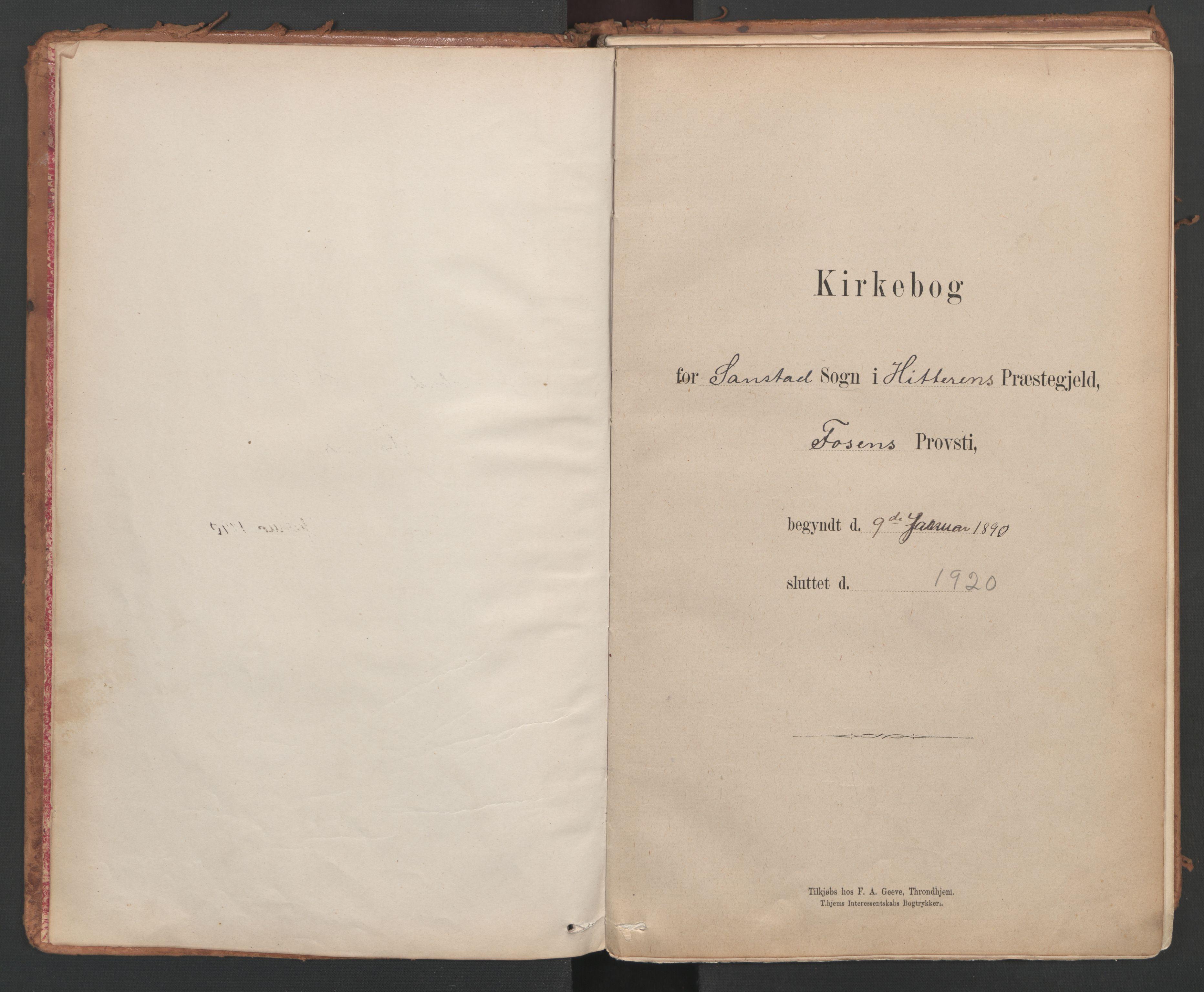 SAT, Ministerialprotokoller, klokkerbøker og fødselsregistre - Sør-Trøndelag, 639/L0572: Ministerialbok nr. 639A01, 1890-1920