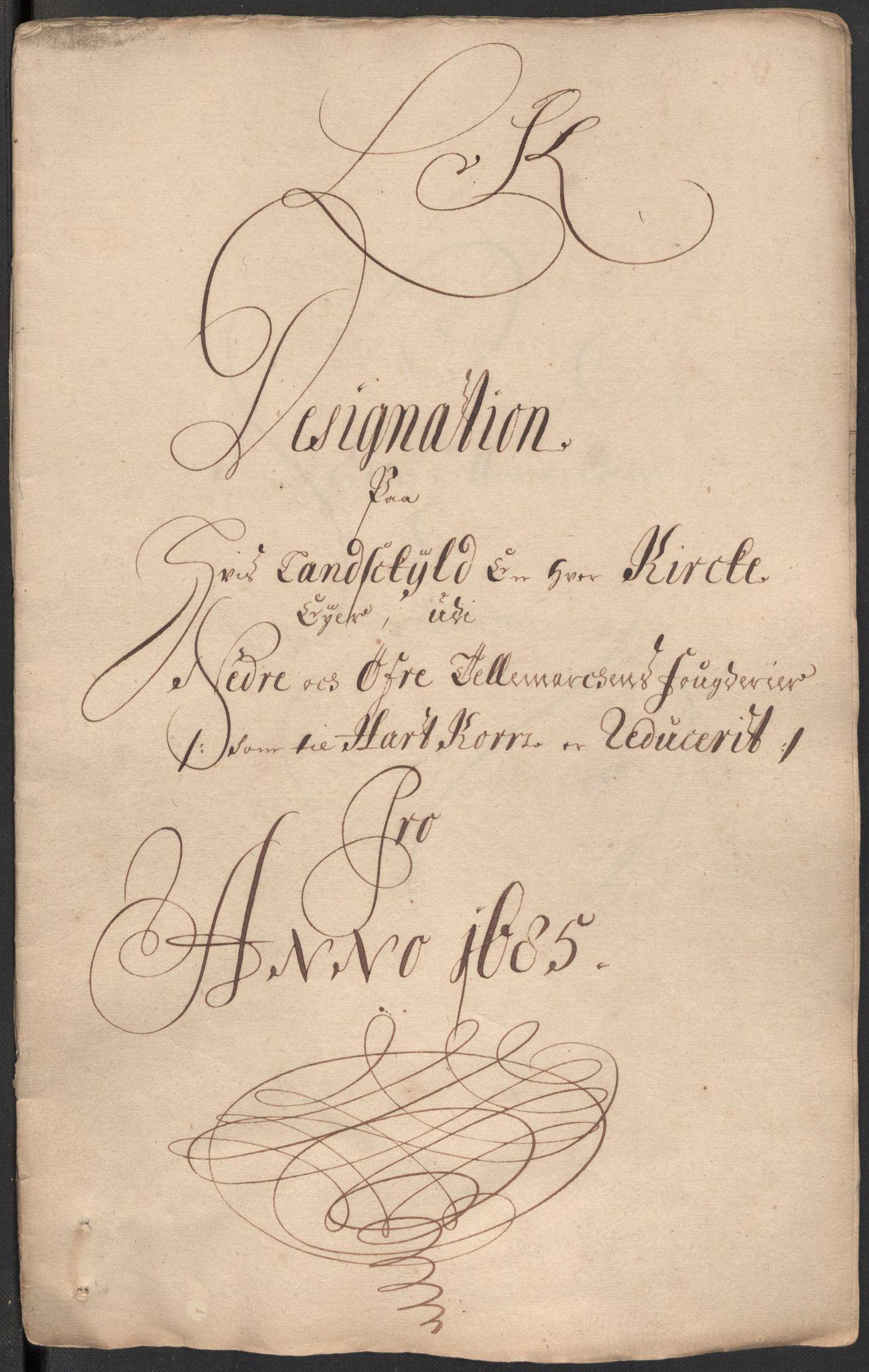 RA, Rentekammeret inntil 1814, Reviderte regnskaper, Fogderegnskap, R35/L2082: Fogderegnskap Øvre og Nedre Telemark, 1685, s. 308