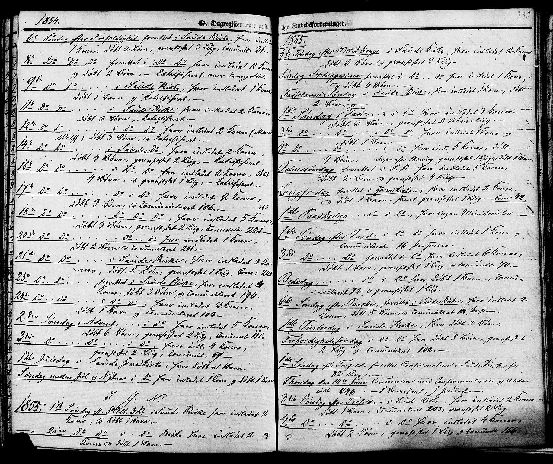 SAKO, Sauherad kirkebøker, F/Fa/L0007: Ministerialbok nr. I 7, 1851-1873, s. 335