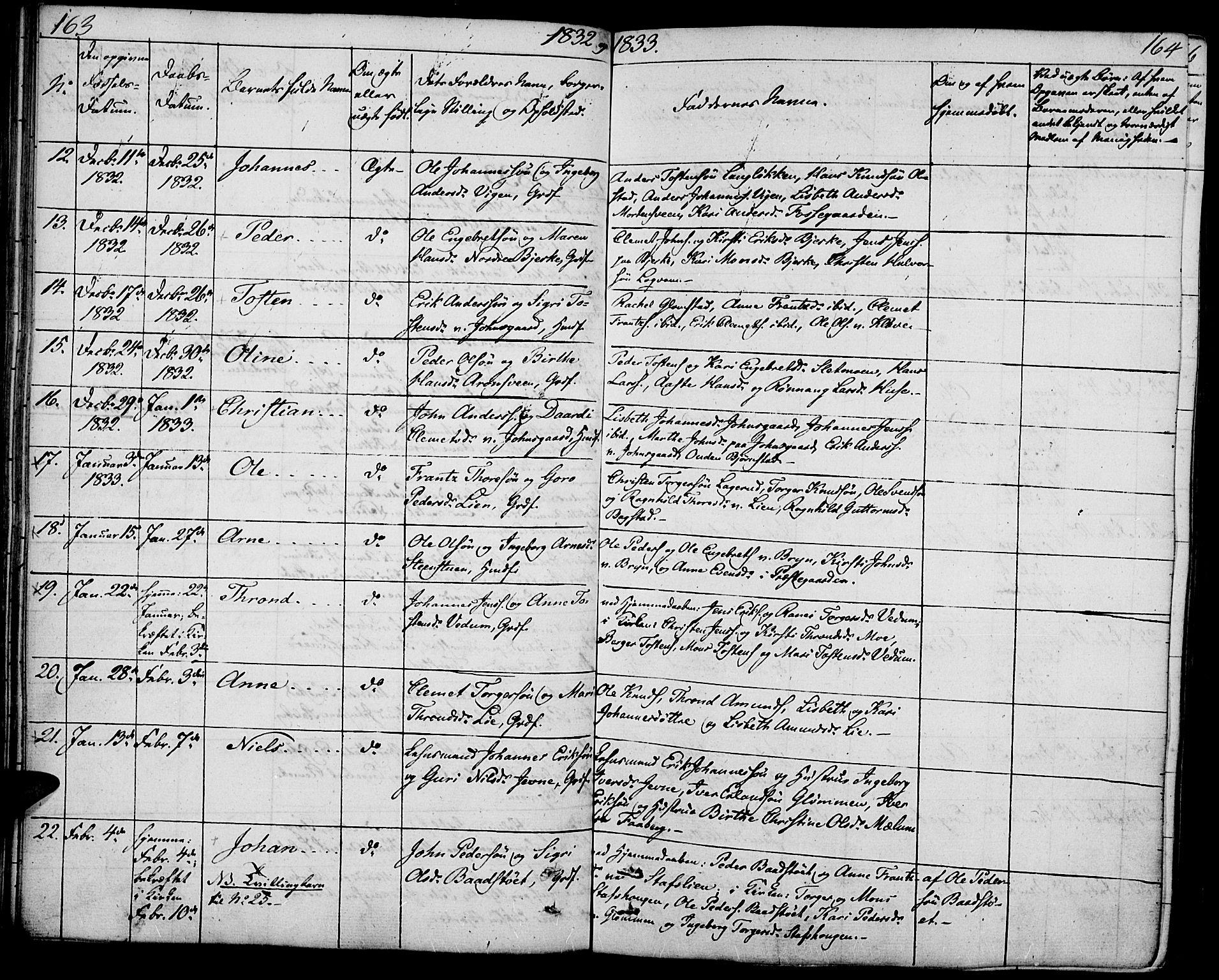SAH, Øyer prestekontor, Ministerialbok nr. 4, 1824-1841, s. 163-164