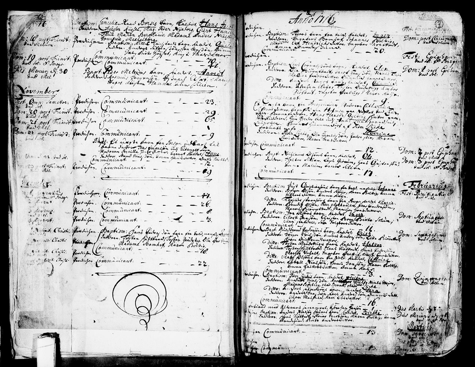 SAKO, Solum kirkebøker, F/Fa/L0002: Ministerialbok nr. I 2, 1713-1761, s. 7